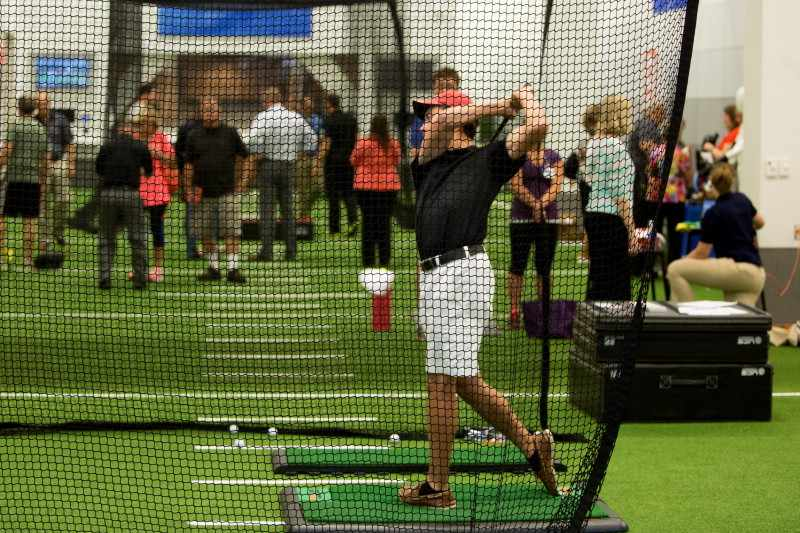 Mayo Clinic Square Sports Medicine golfing cage for practice
