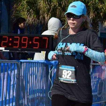 double lung transplant patient Tammy Bolerjack running a race