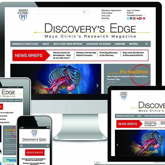 Discovery's Edge displayed on digital devices