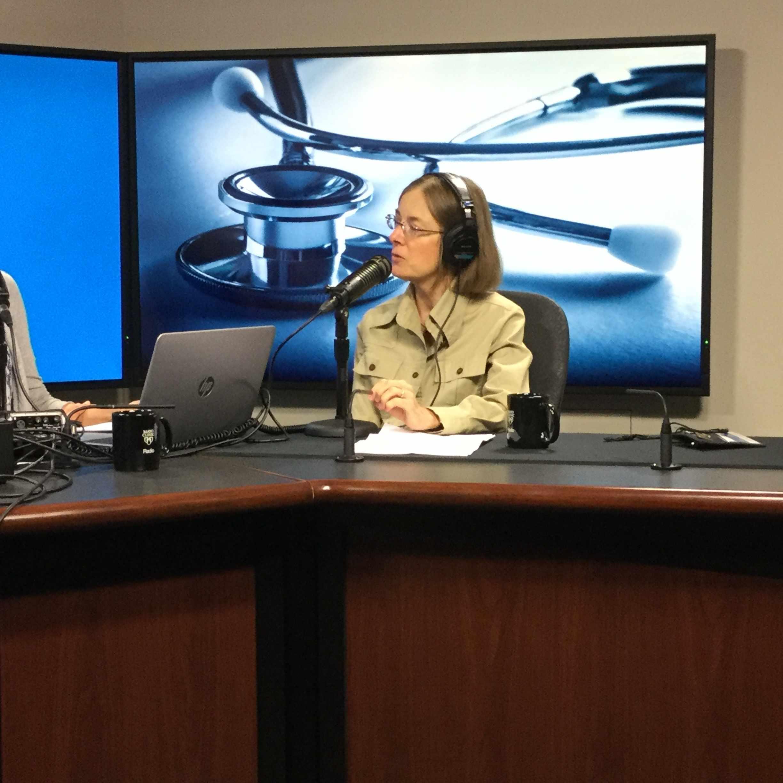 Dr. Carola Arndt being interviewed on Mayo Clinic Radio
