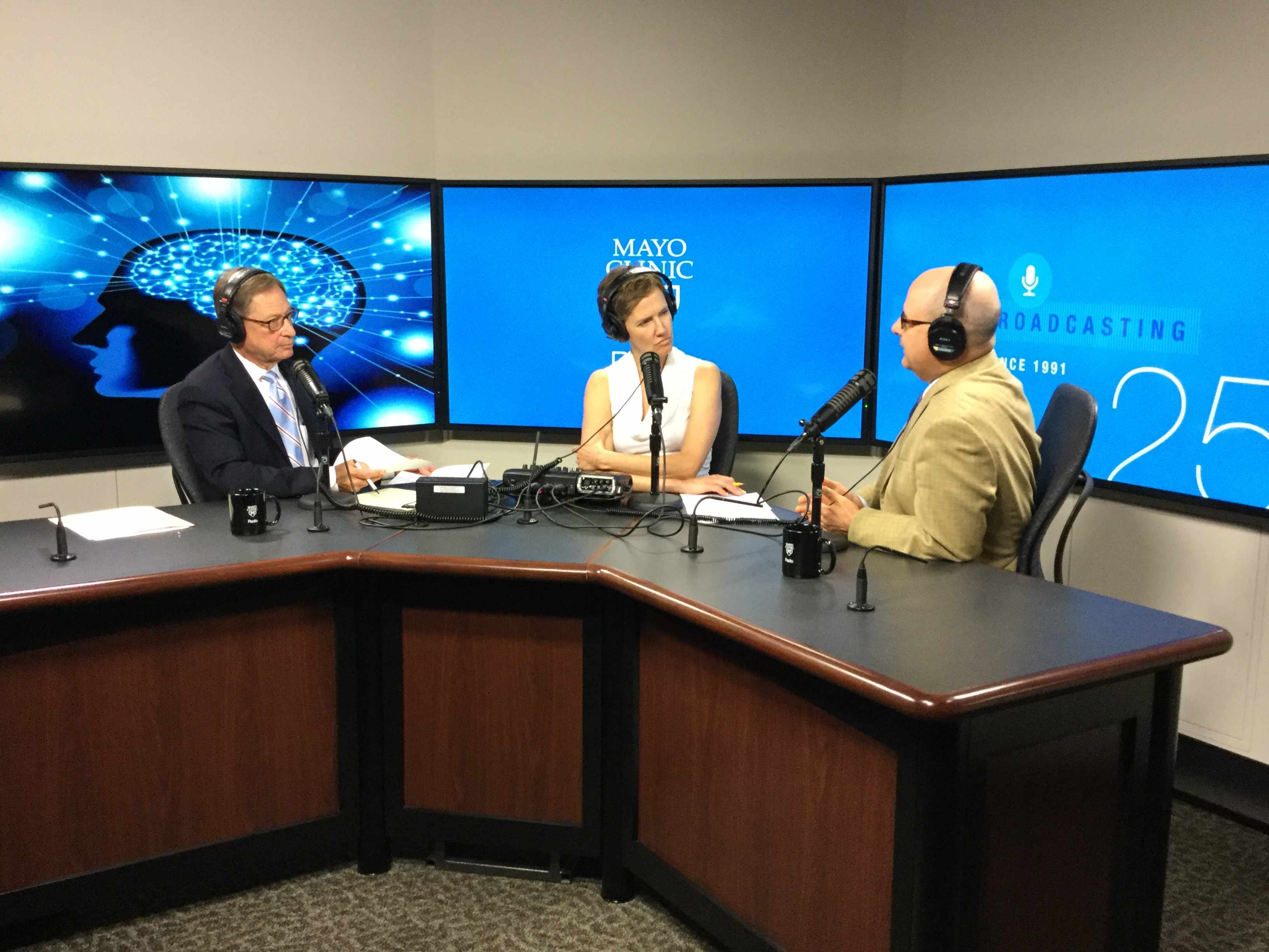 Dr. Jeffrey Staab being interviewed on Mayo Clinic Radio