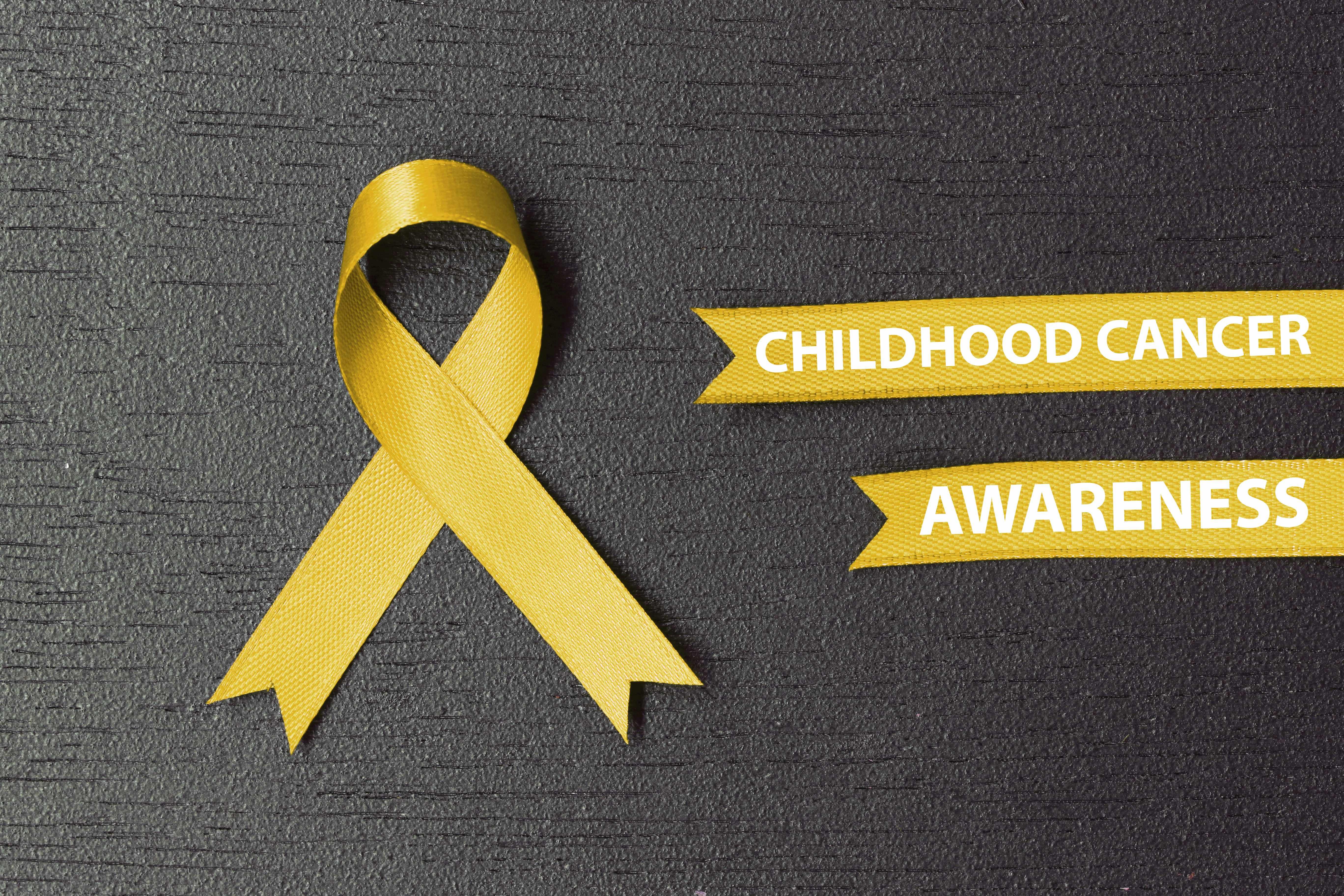 gold ribbon for childhood cancer awareness