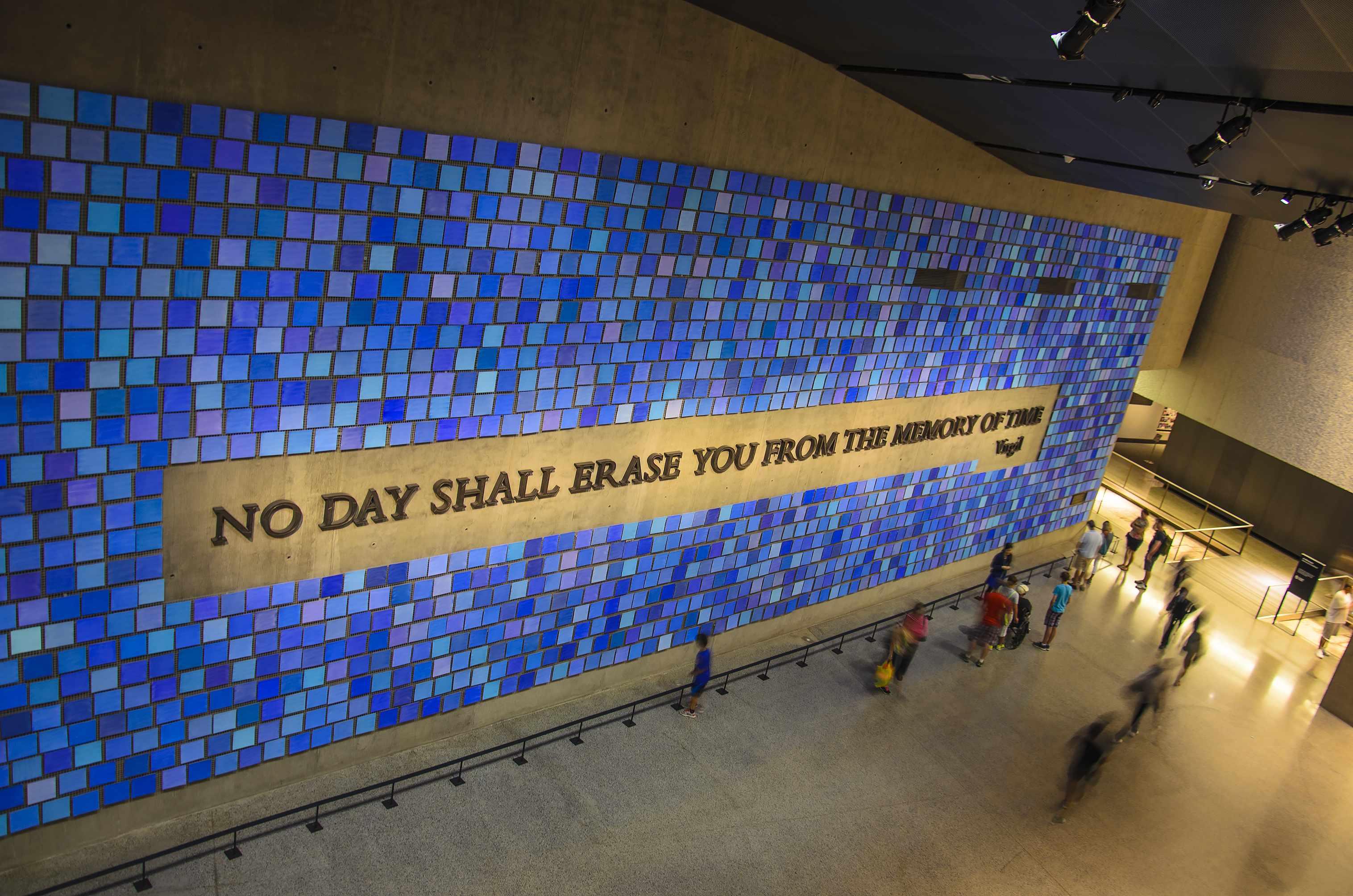JULY 2016: Interior of the 9/11 Memorial Museum in New York City