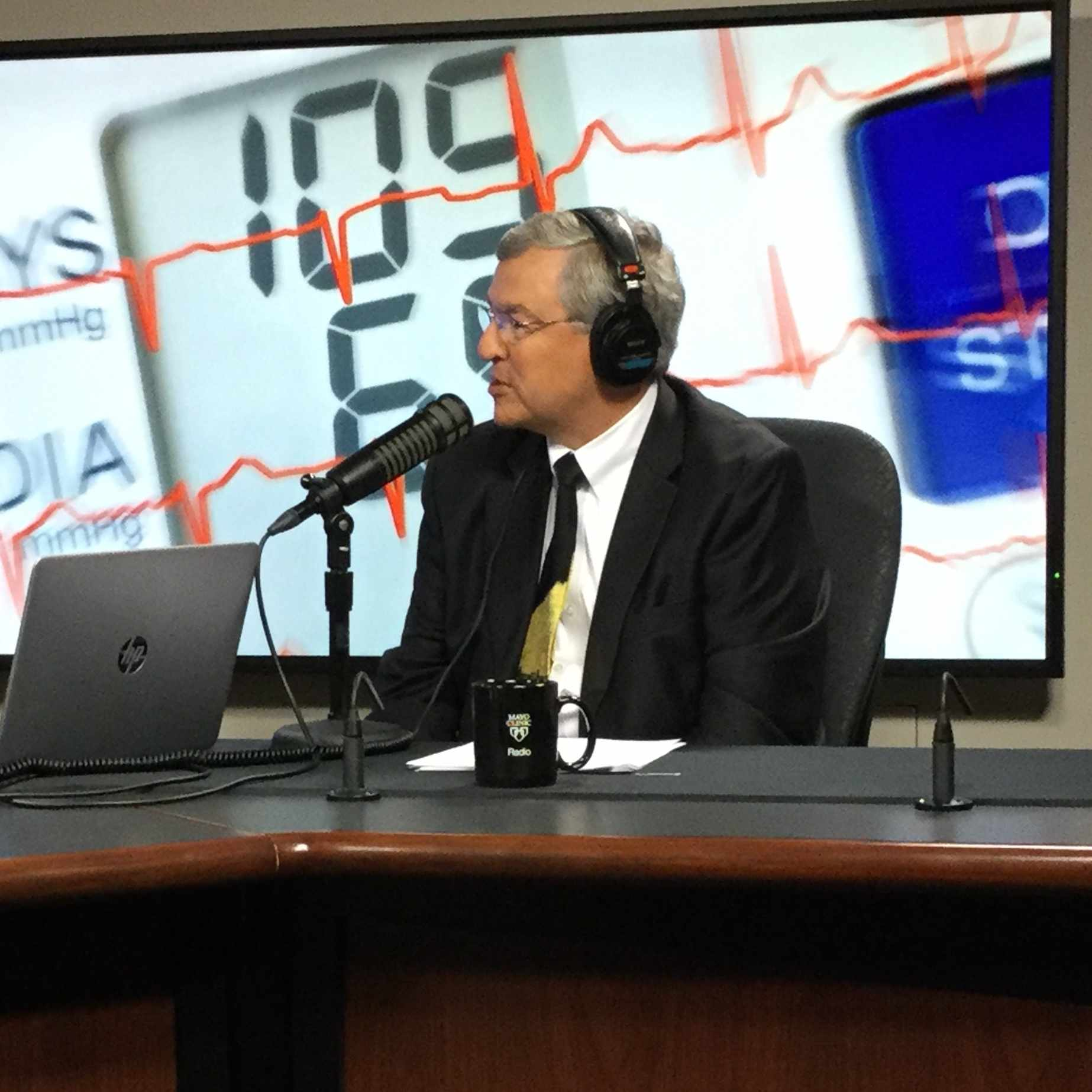 Dr. Vincent Canzanello being interviewed on Mayo Clinic Radio