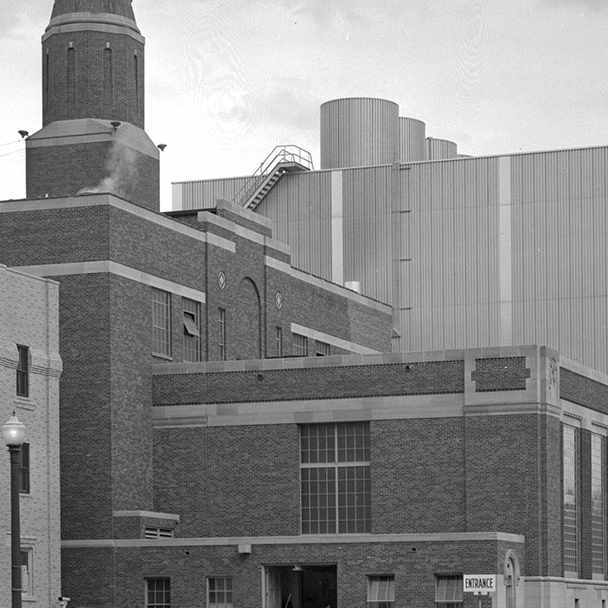 a 1954 photo of the Franklin Heating Station