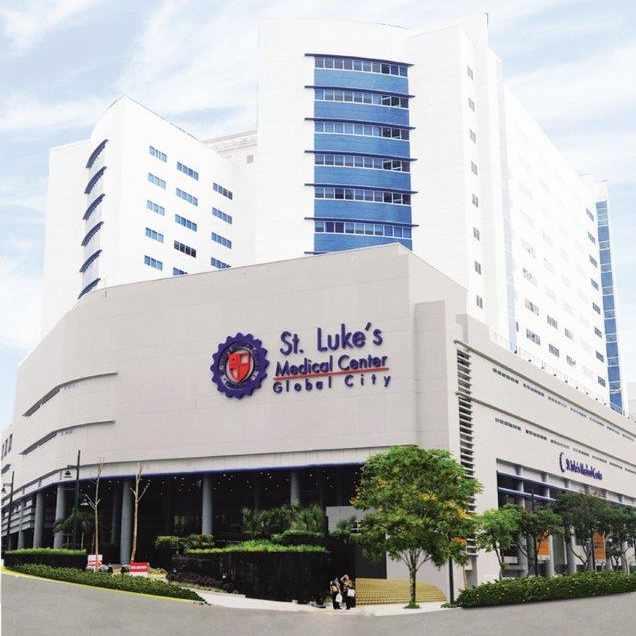 The facade of St. Lukes Medical Center in Global City MCCN