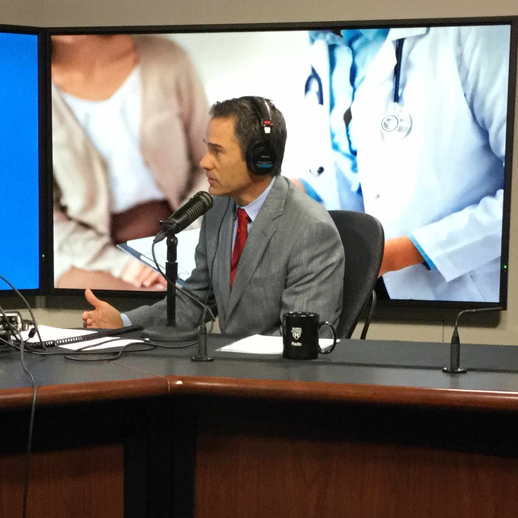 Dr. John Wald being interviewed on Mayo Clinic Radio