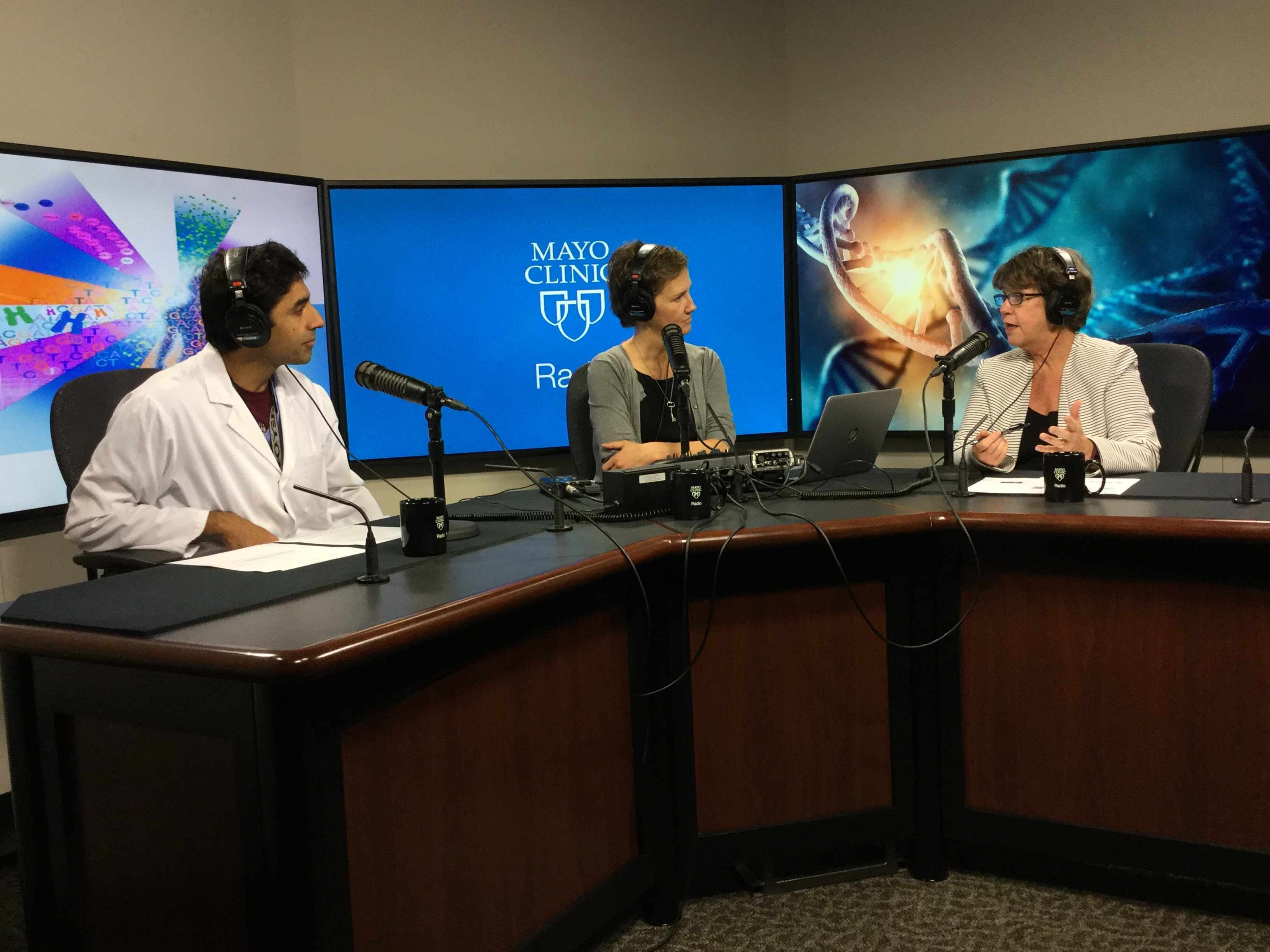 Dr. Kathy Hudson being interviewed on Mayo Clinic Radio