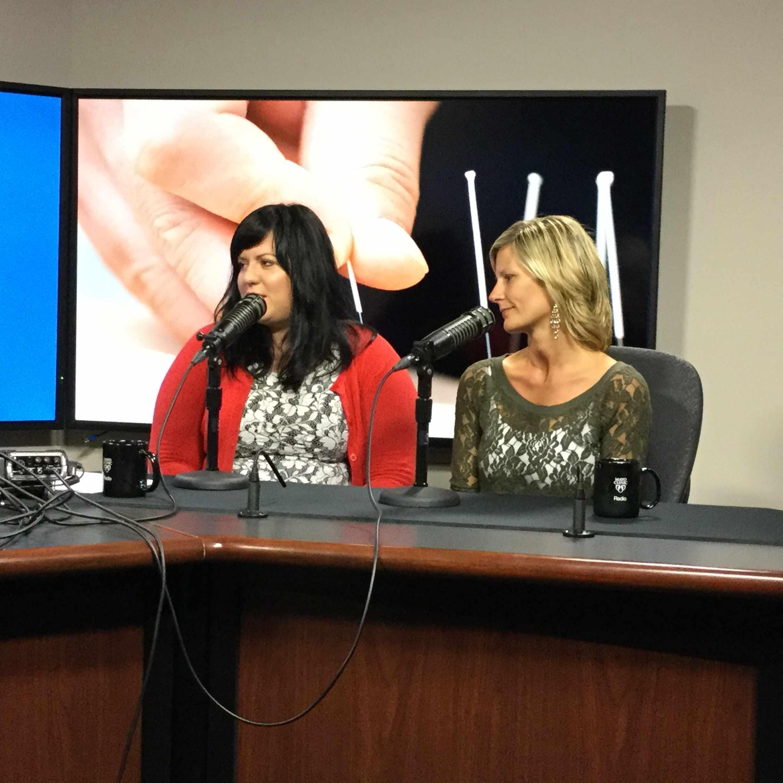 Sara Bublitz and Heather Spaniol being interviewed on Mayo Clinic Radio