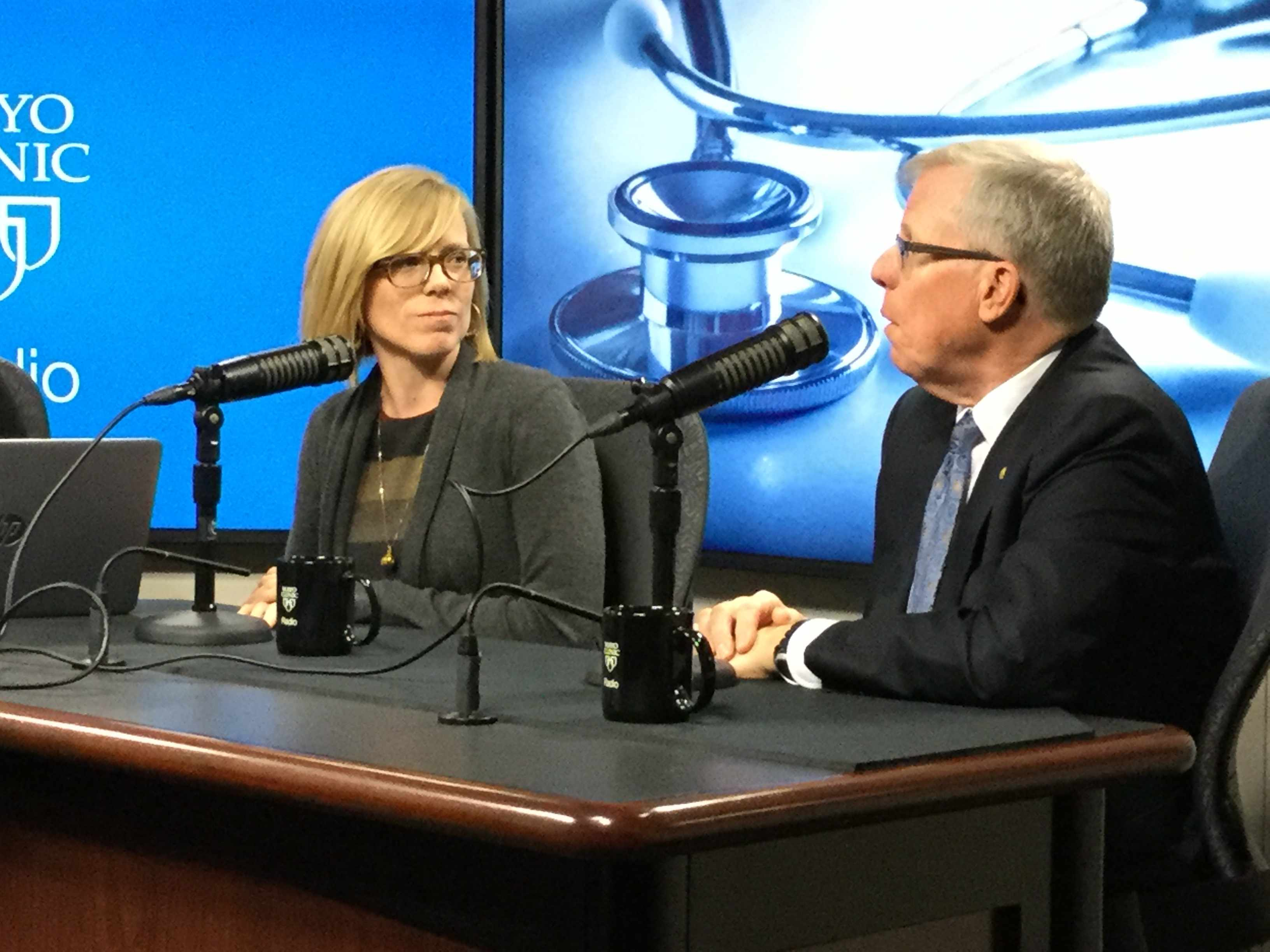 Dr. John Wilkinson and Dr. Elizabeth Cozine on Mayo Clinic Radio