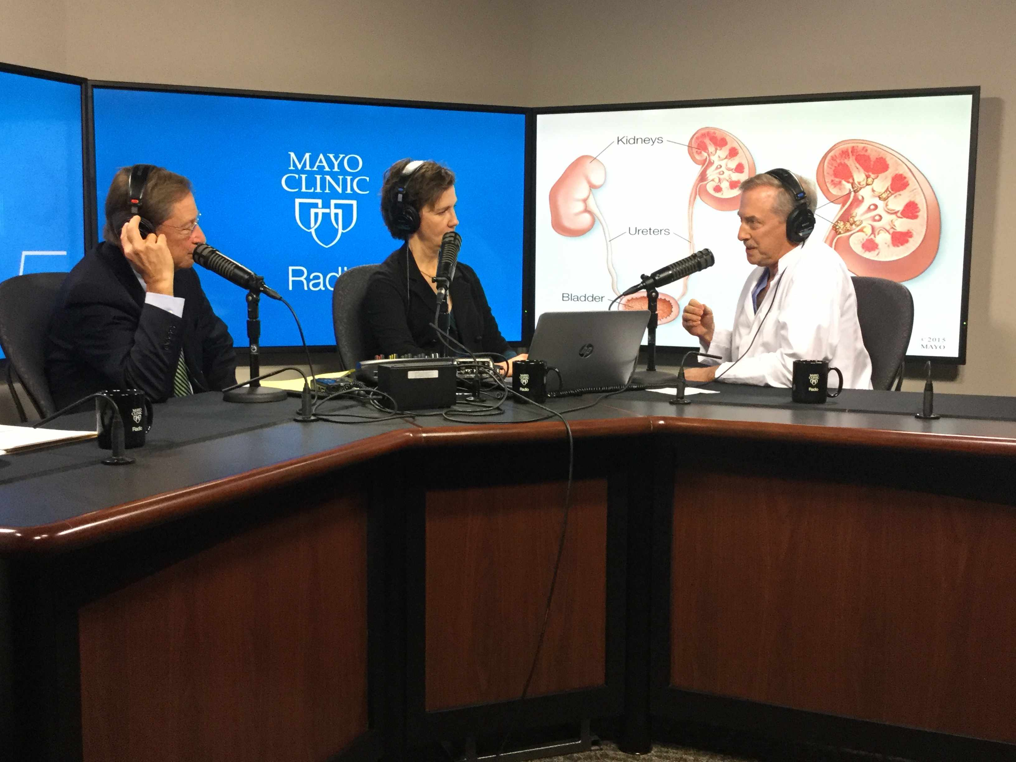 Dr. David Patterson being interviewed on Mayo Clinic Radio