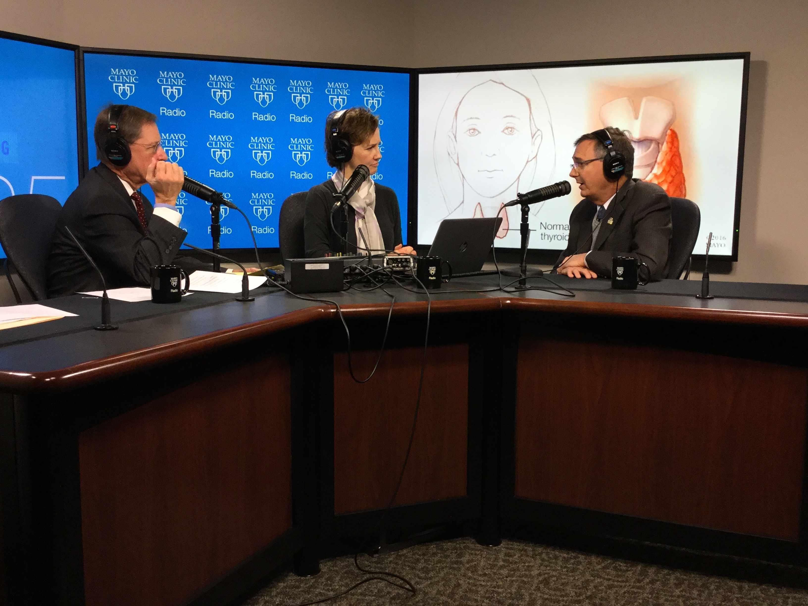Dr. John C. Morris being interviewed on Mayo Clinic Radio
