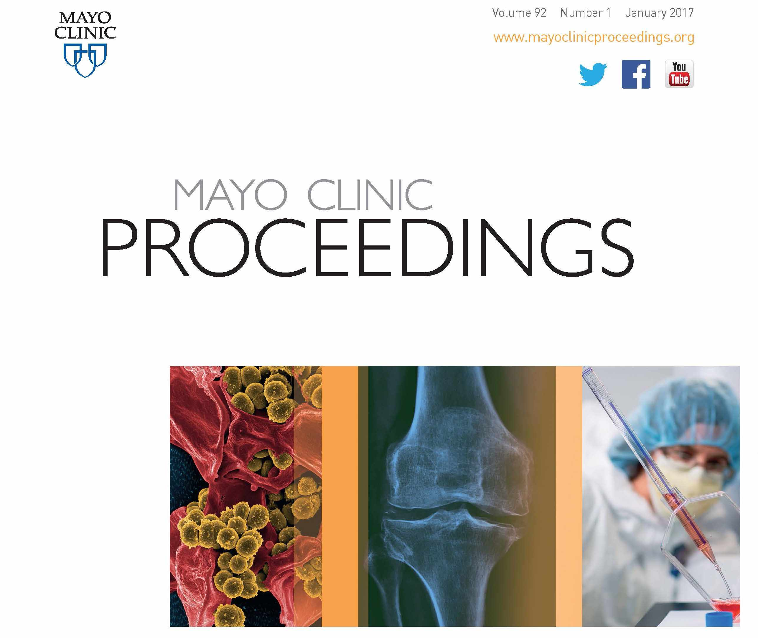 Mayo Clinic Proceedings cover