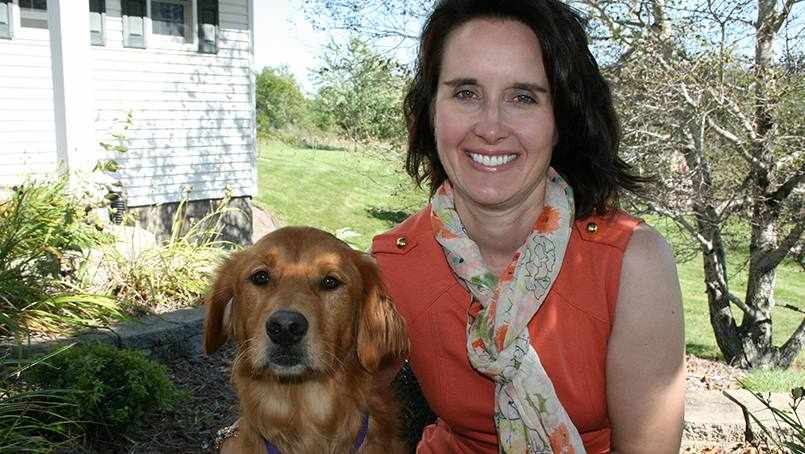 Cindi with her therapy dog