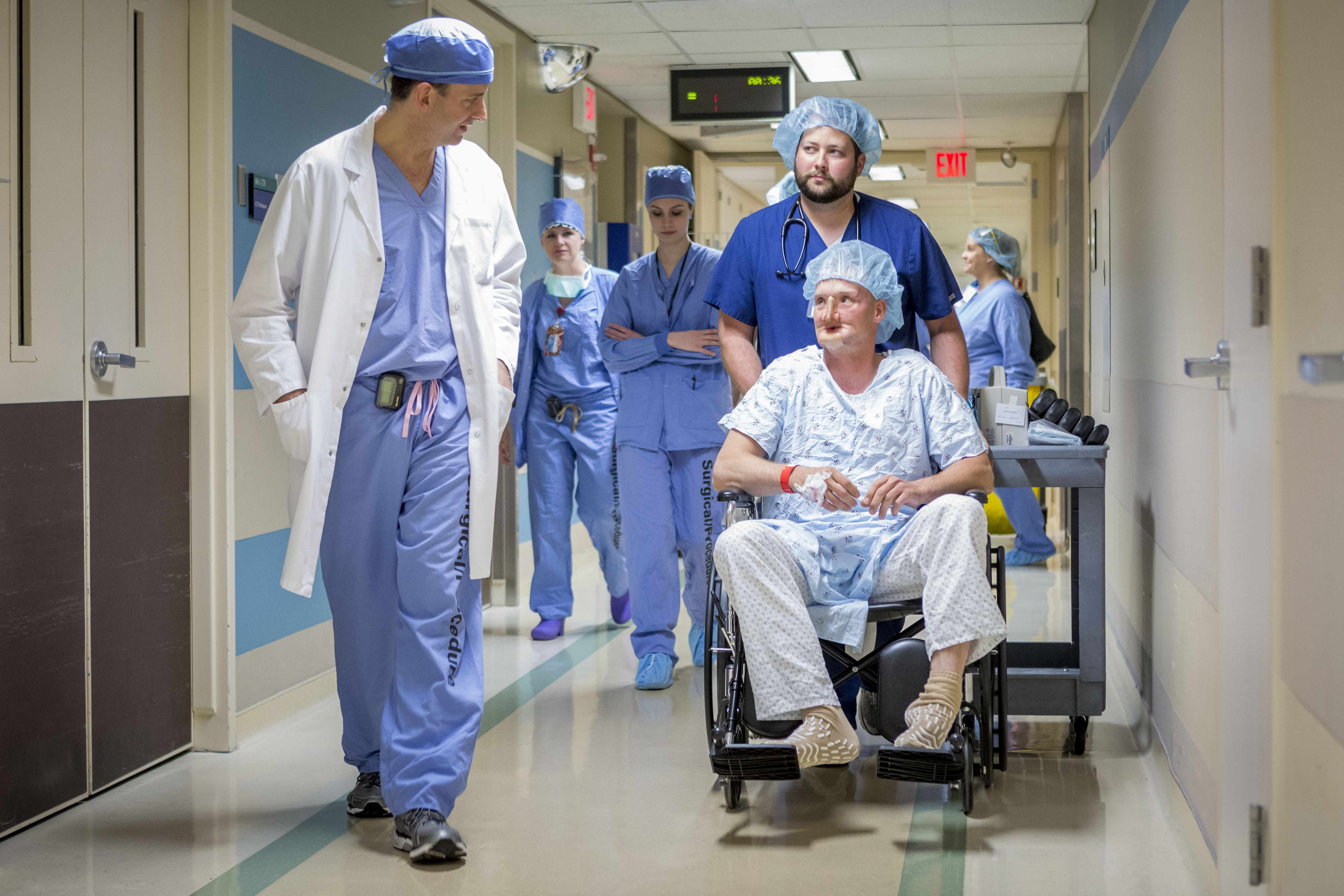 patient going to operating room