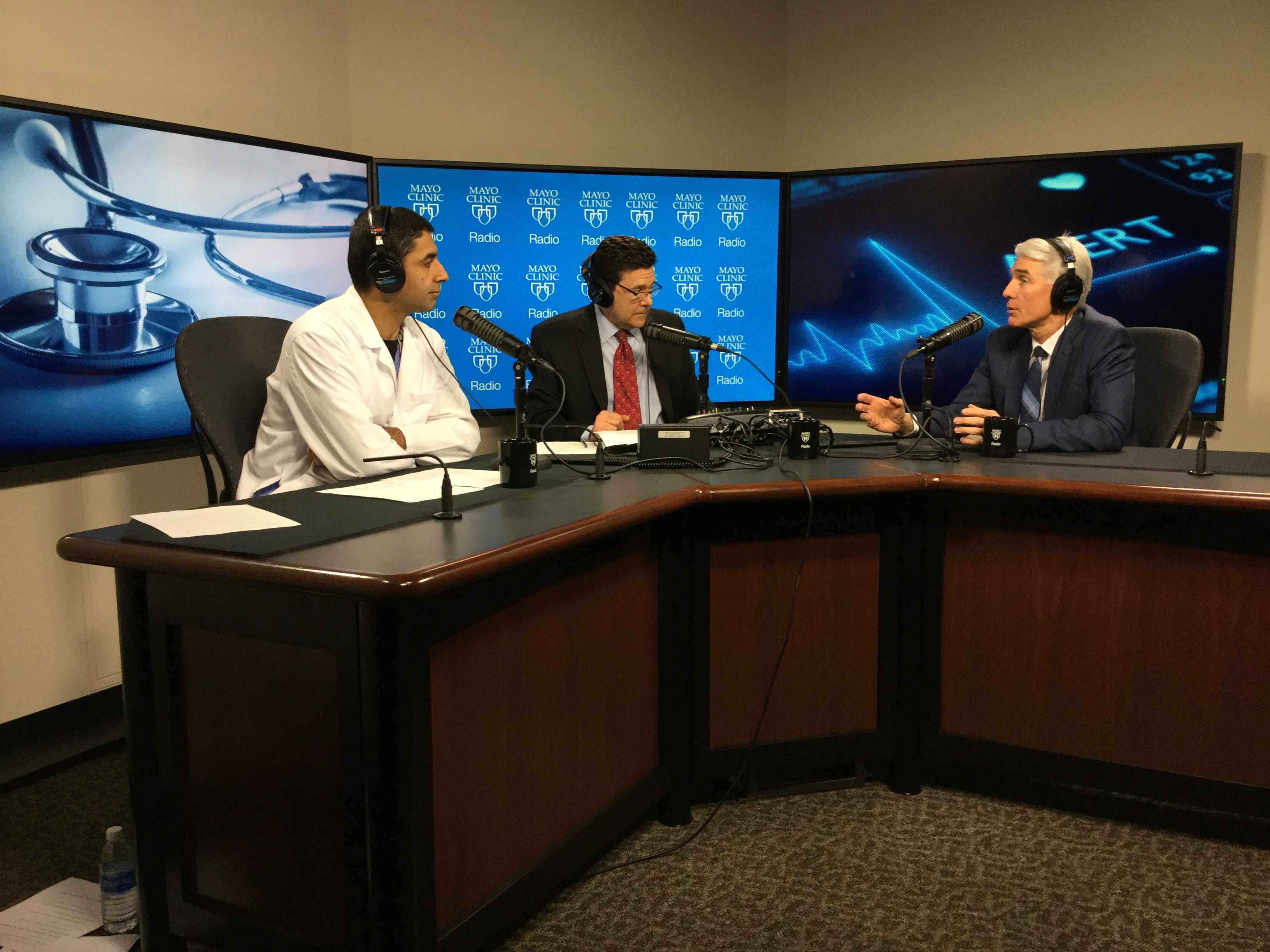 Dr. Donald Hensrud being interviewed on Mayo Clinic Radio