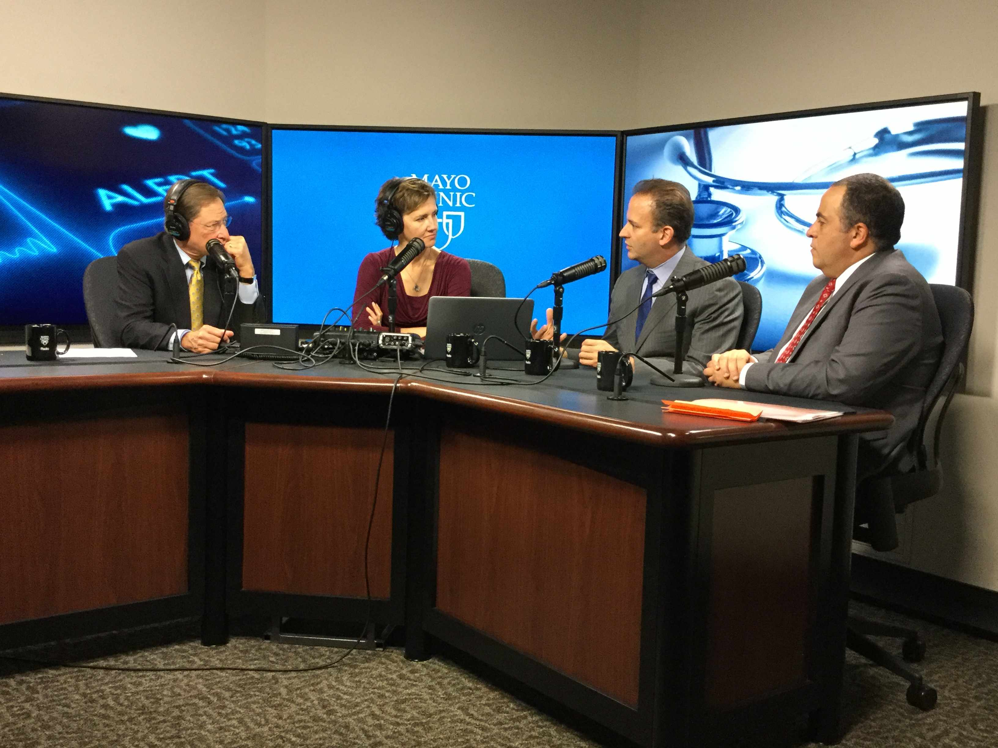 Dr. Samir Mardini and Dr. Hatem Amer being interviewed on Mayo Clinic Radio