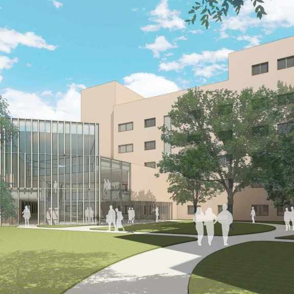 artists rendition of new patient and family waiting area at Mankato hospital