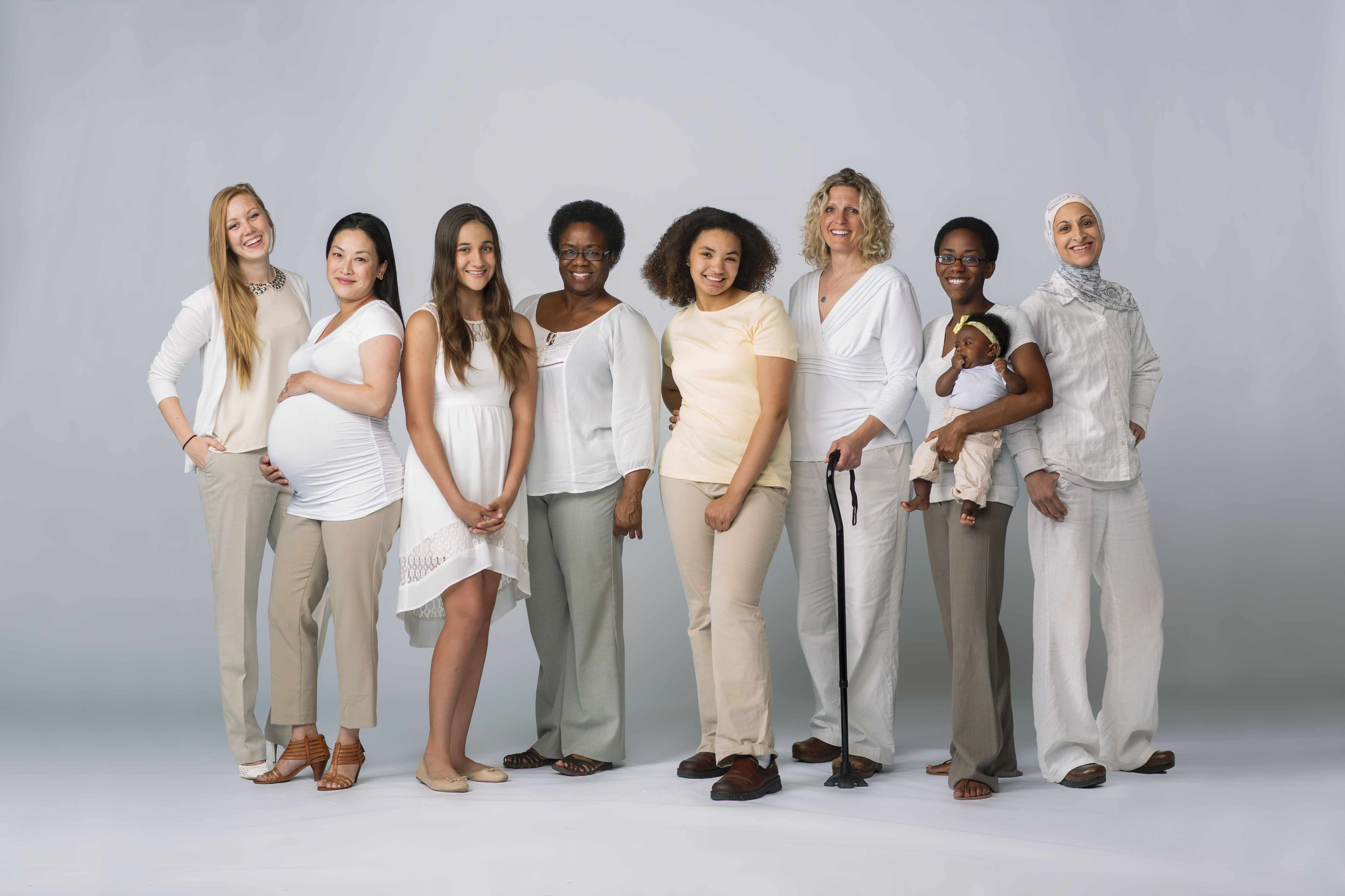 a diverse group of women representing women's health