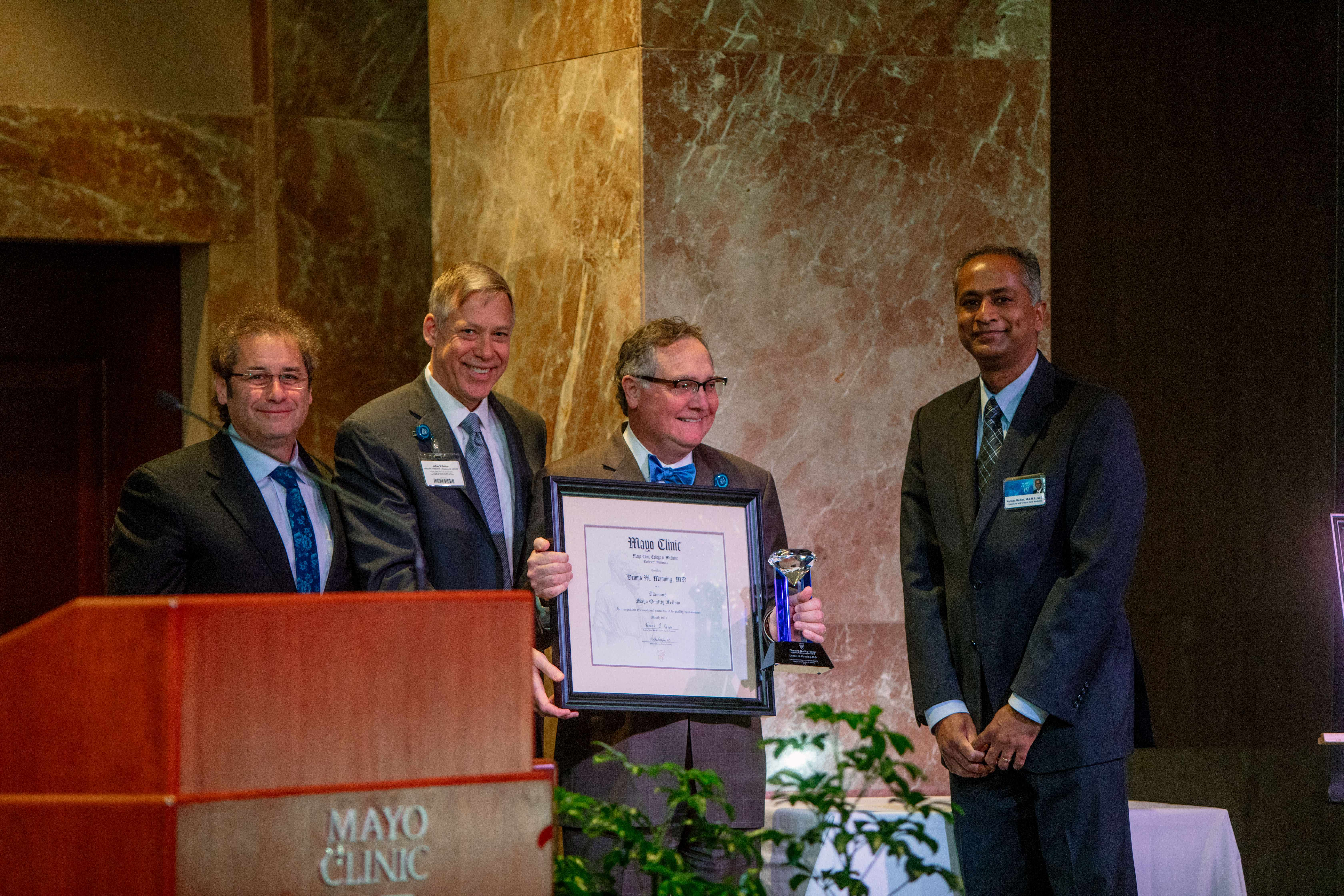 Pictured from left to right: Dr. Fred Meyer, Jeff Bolton, Dr. Dennis Manning, and Dr. Kannan Ramar