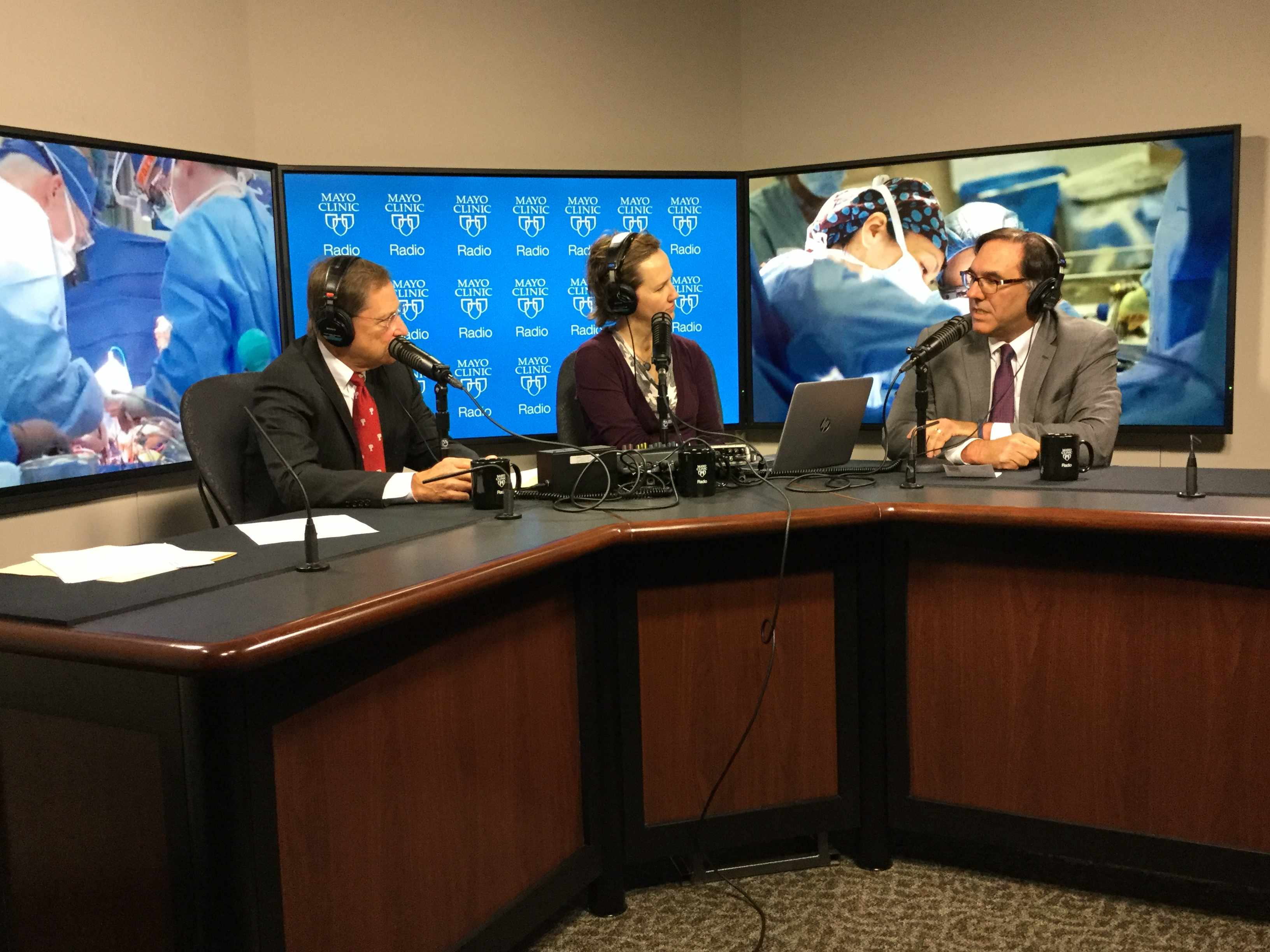 Dr. Brooks Edwards being interviewed on Mayo Clinic Radio