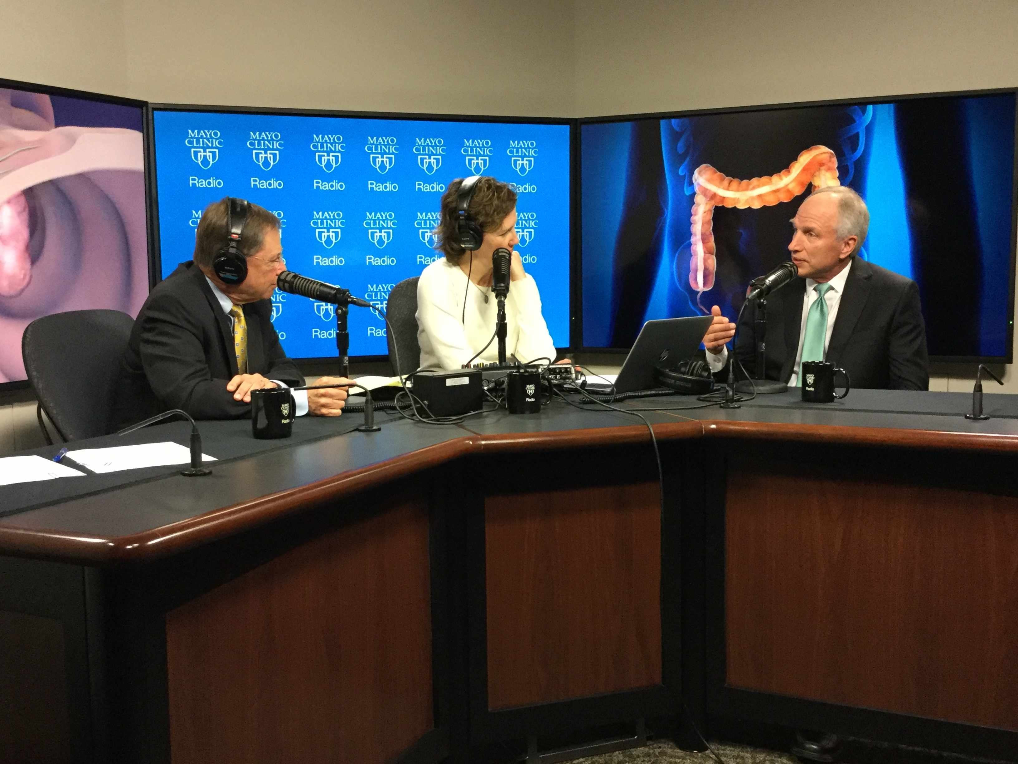 Dr. David Ahlquist being interviewed on Mayo Clinic Radio