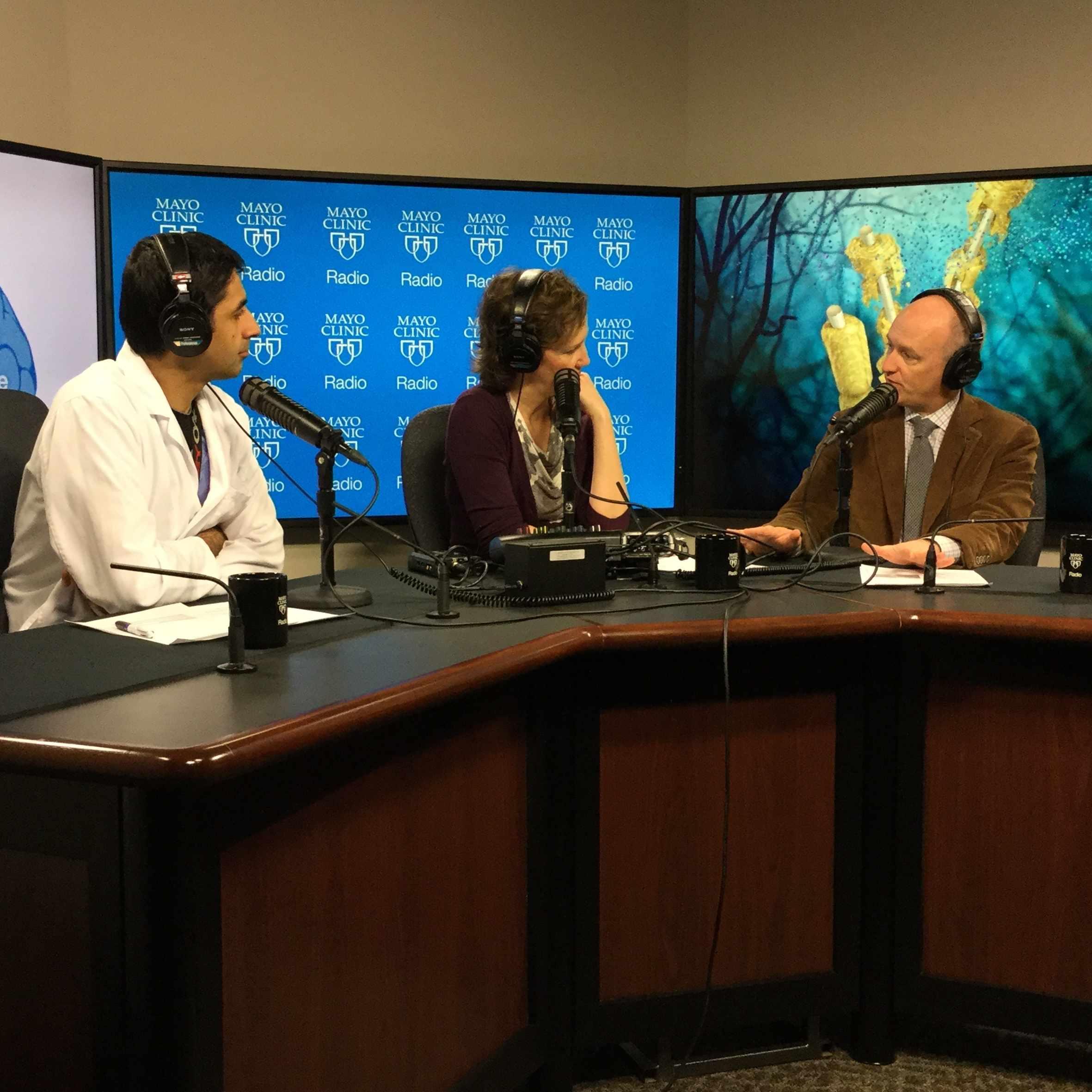 Dr. Mark Keegan being interviewed on Mayo Clinic Radio