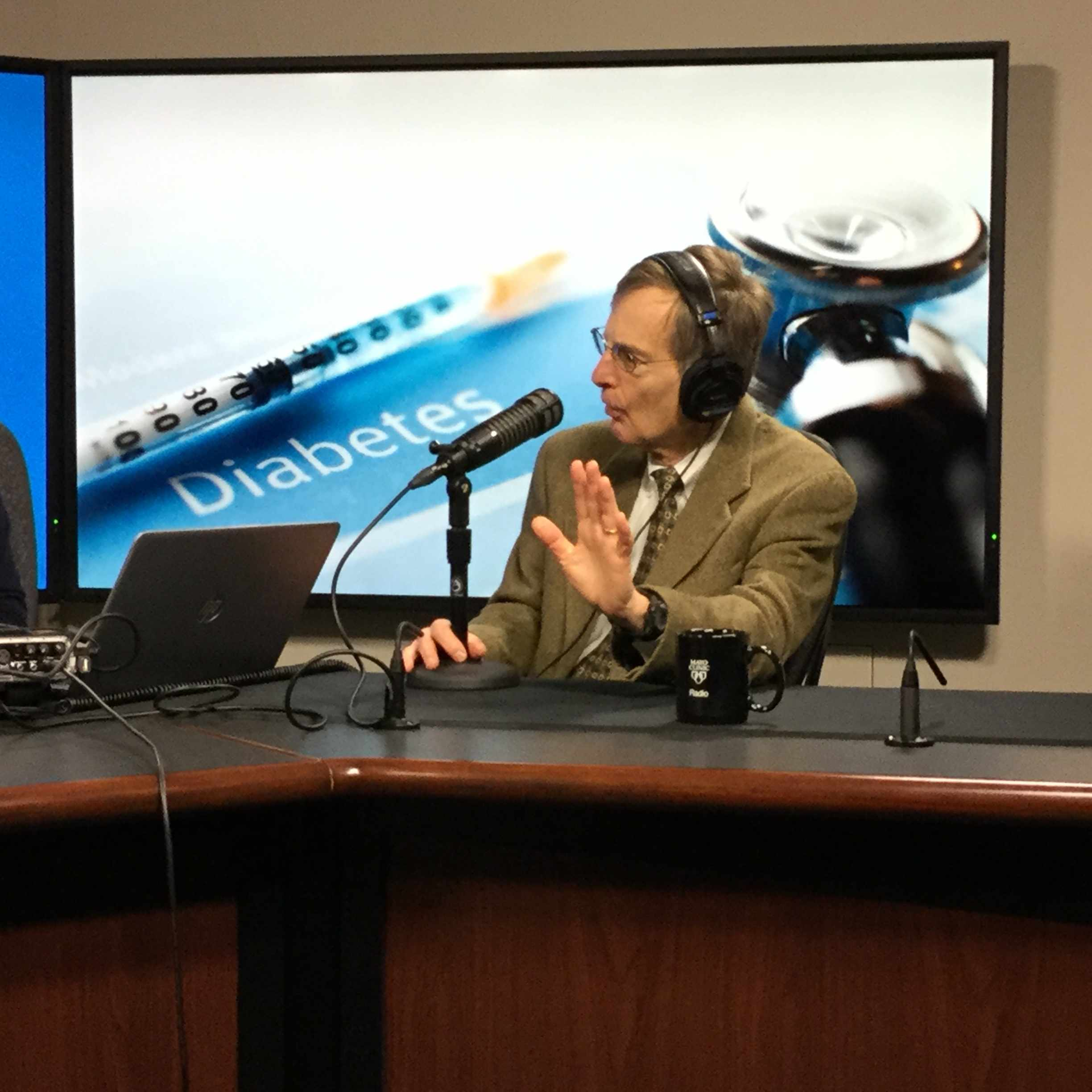 Dr. Robert Rizza being interviewed on Mayo Clinic Radio