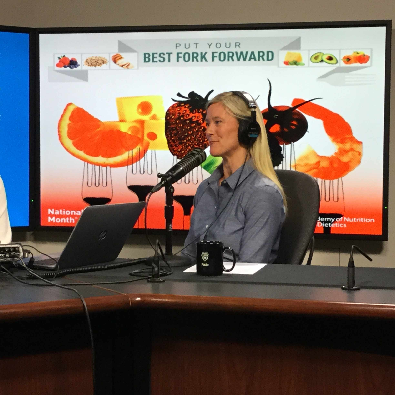 Kate Zeratsky being interviewed on Mayo Clinic Radio