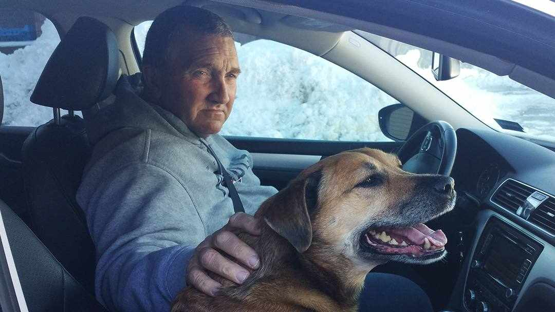 Richard Parker in car with his dog