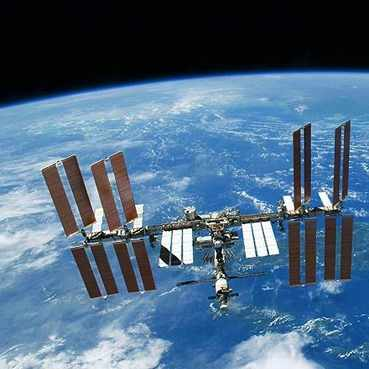 NASA space station above the earth