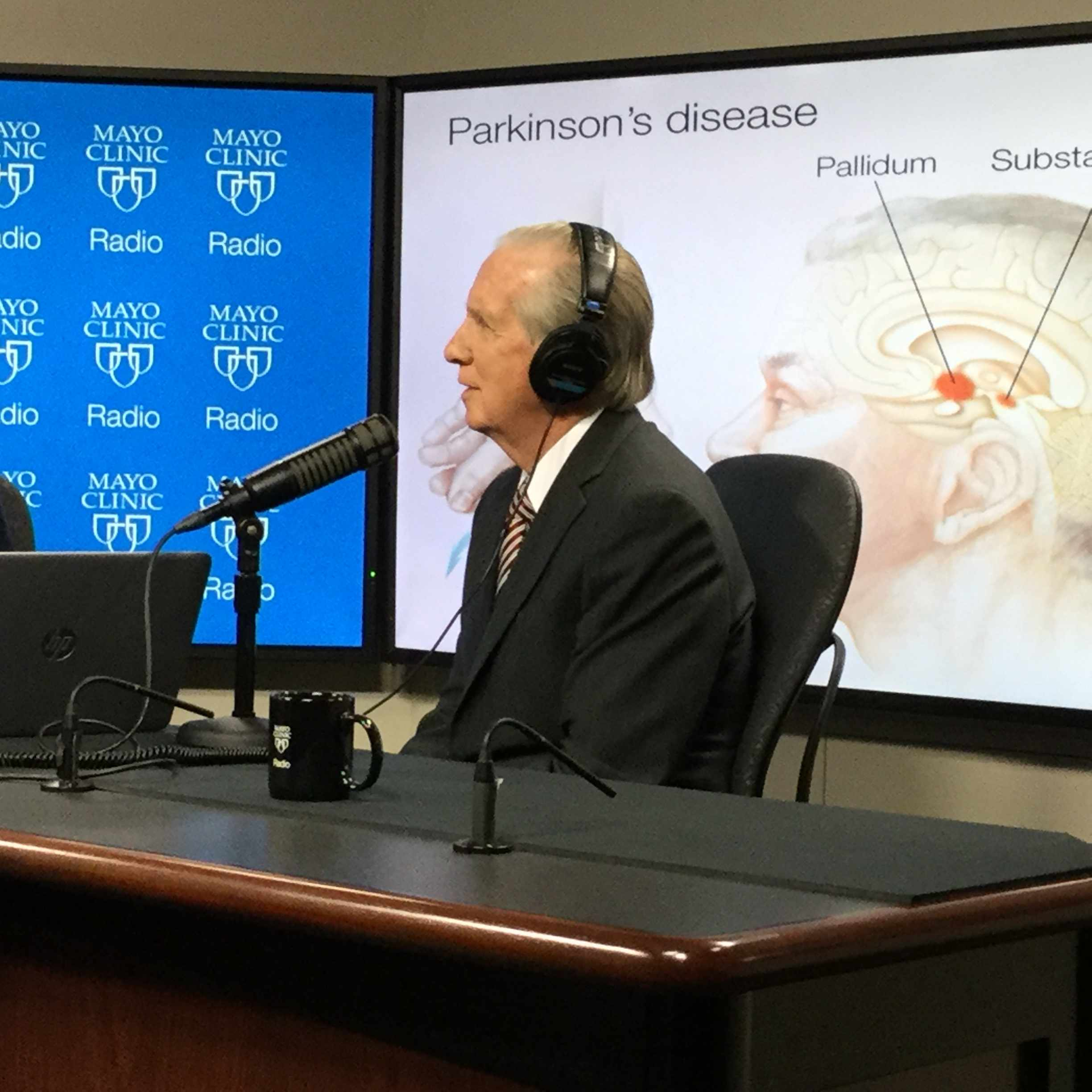 Dr. J. Eric Ahlskog being interviewed on Mayo Clinic Radio