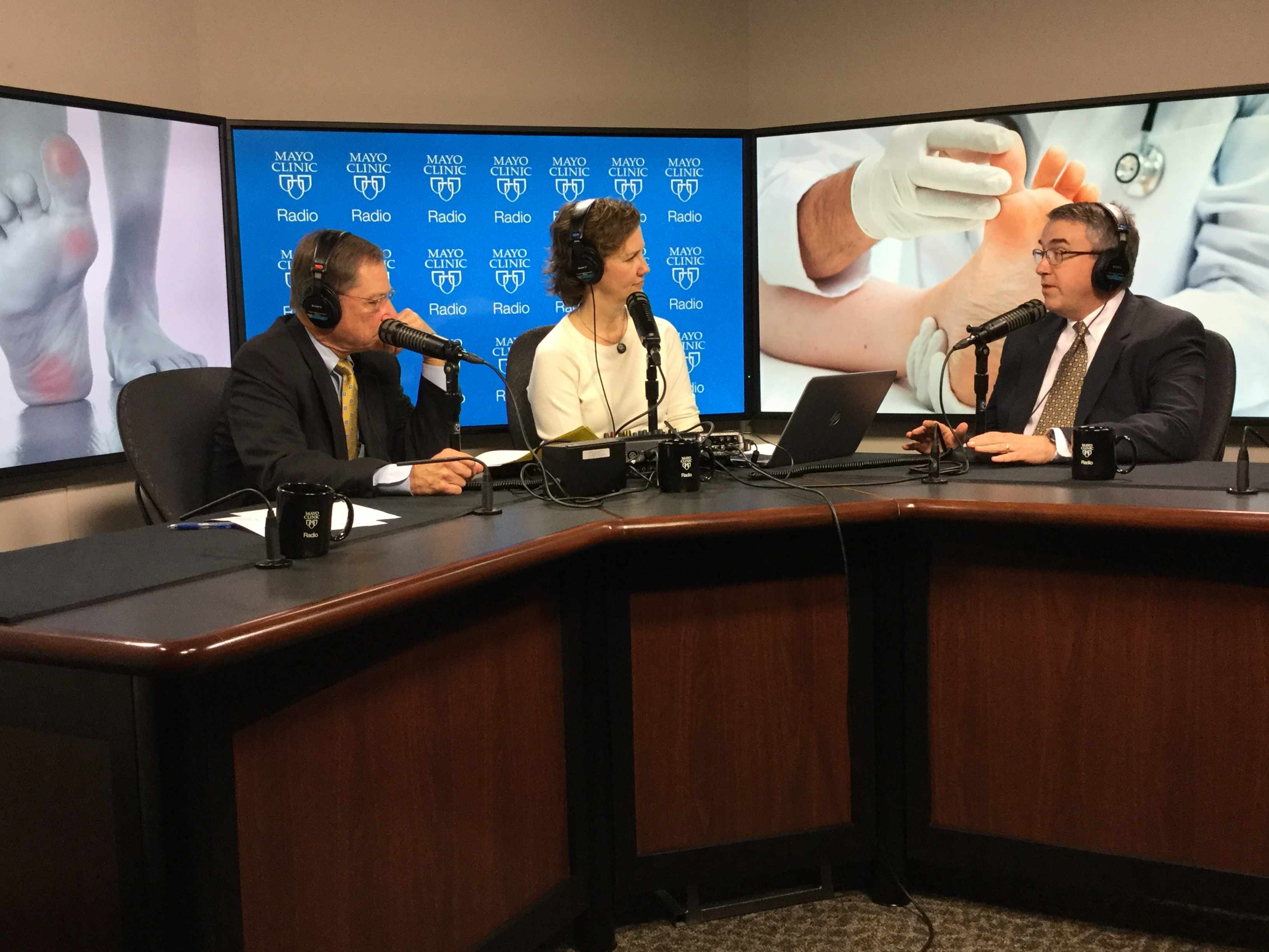 Dr. Norm Turner being interviewed on Mayo Clinic Radio