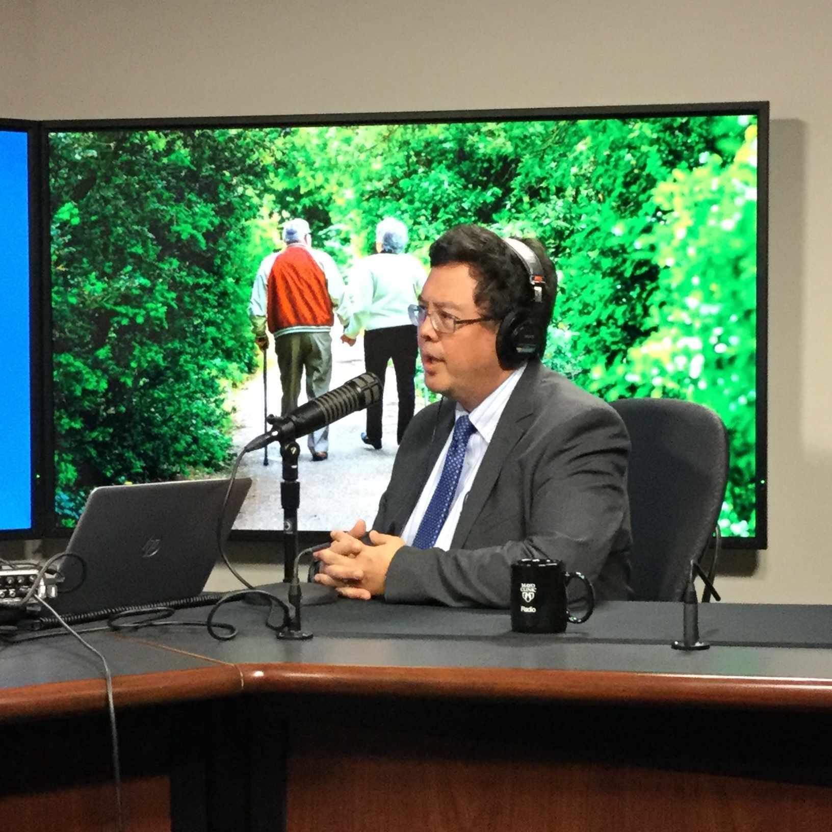 Dr. Paul Takahashi being interviewed on Mayo Clinic Radio