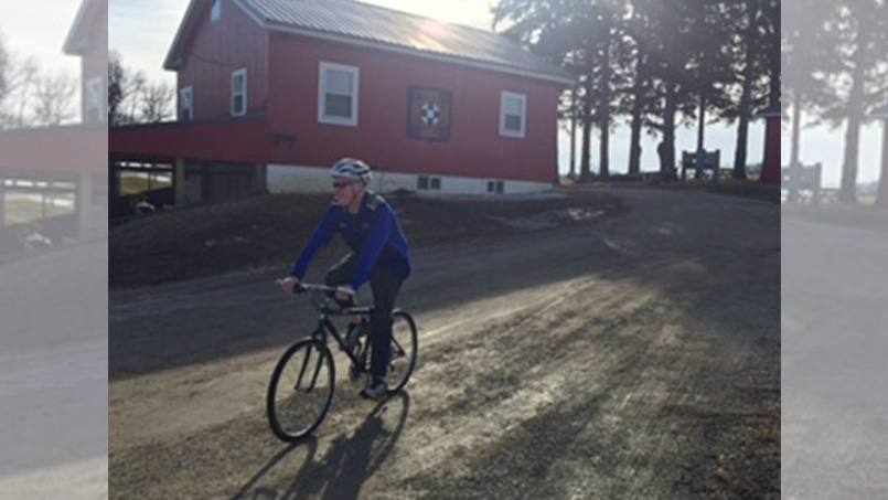 transplant patient Steve on his bicycle