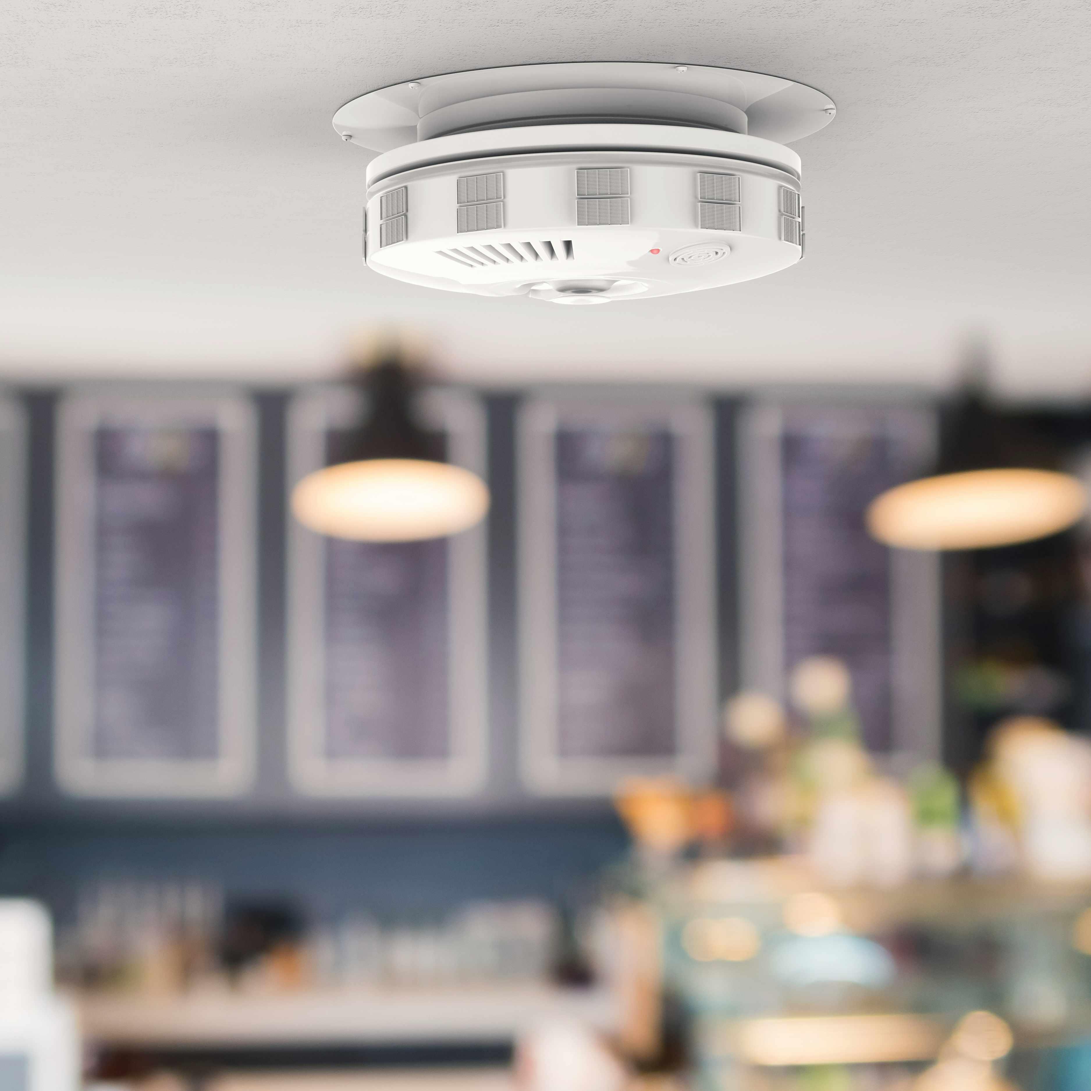 carbon monoxide smoke detector in restaurant