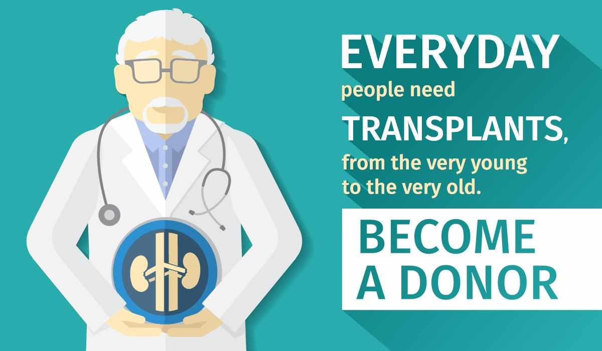 infographic with encouragment to be an organ donor