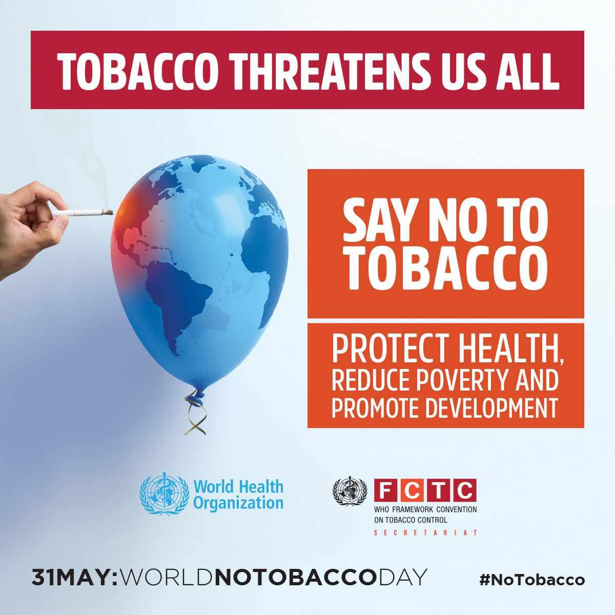 World No Tobacco Day banner
