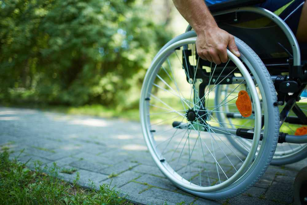 handicapped disabled man in wheelchair