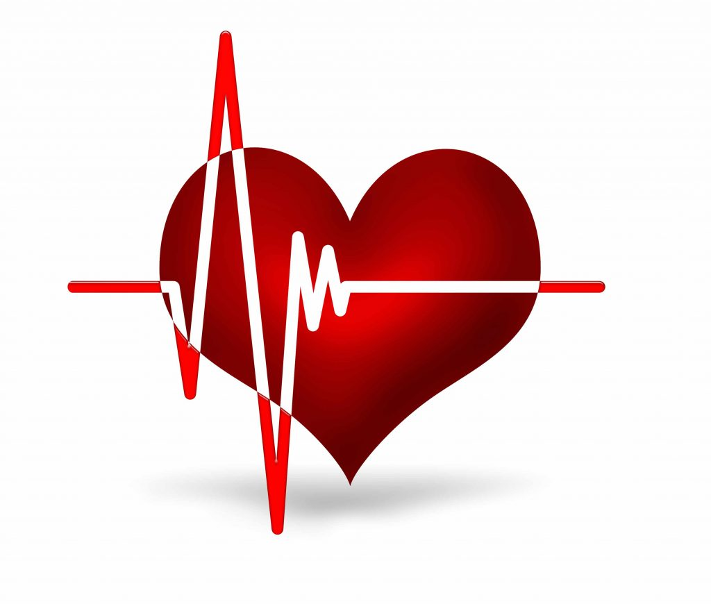 a graphic of a heart and an electrocardiogram reading