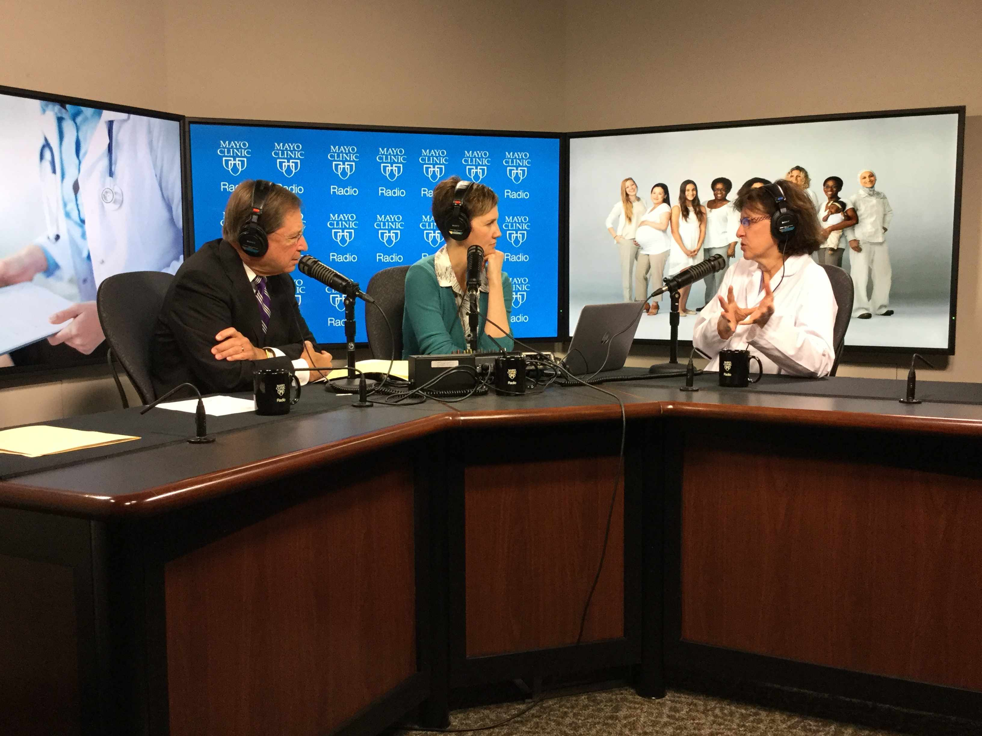 Dr. Deborah Lightner being interviewed on Mayo Clinic Radio
