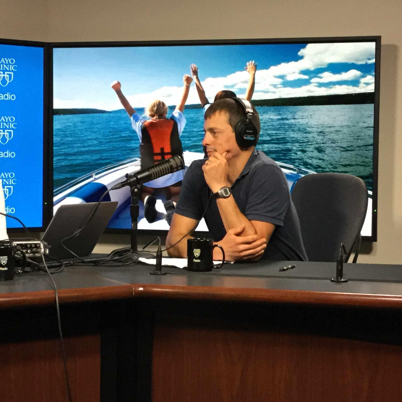 Dr. Luke Wood being interviewed on Mayo Clinic Radio
