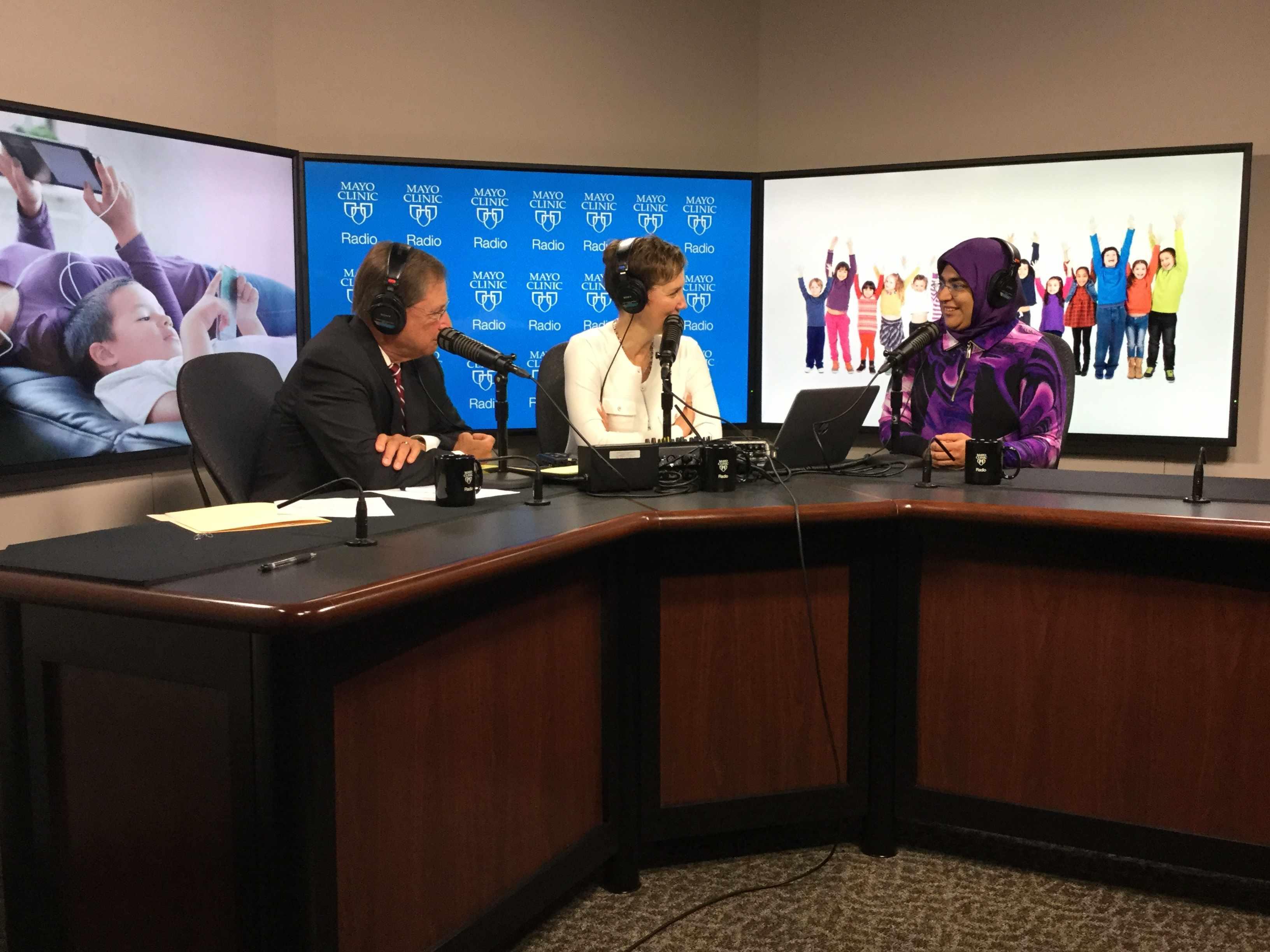 Dr. Nusheen Ameenuddin being interviewed on Mayo Clinic Radio