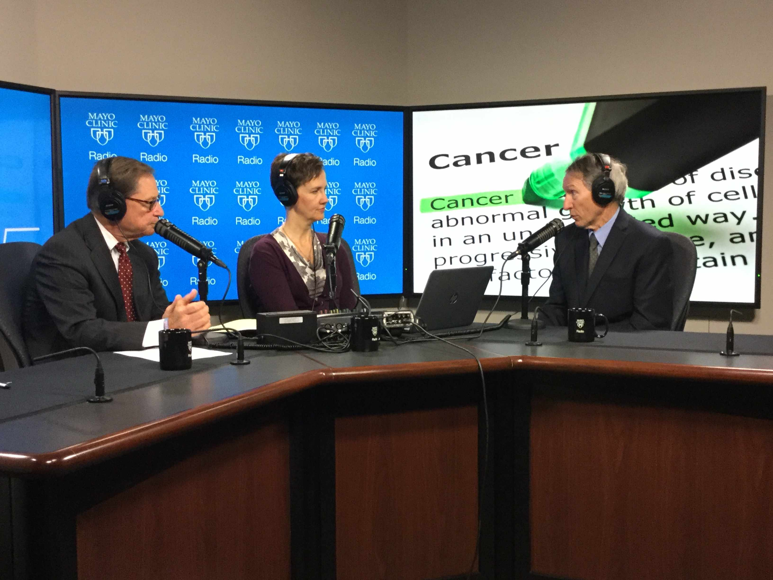 Dr. Timothy Moynihan being interviewed on Mayo Clinic Radio