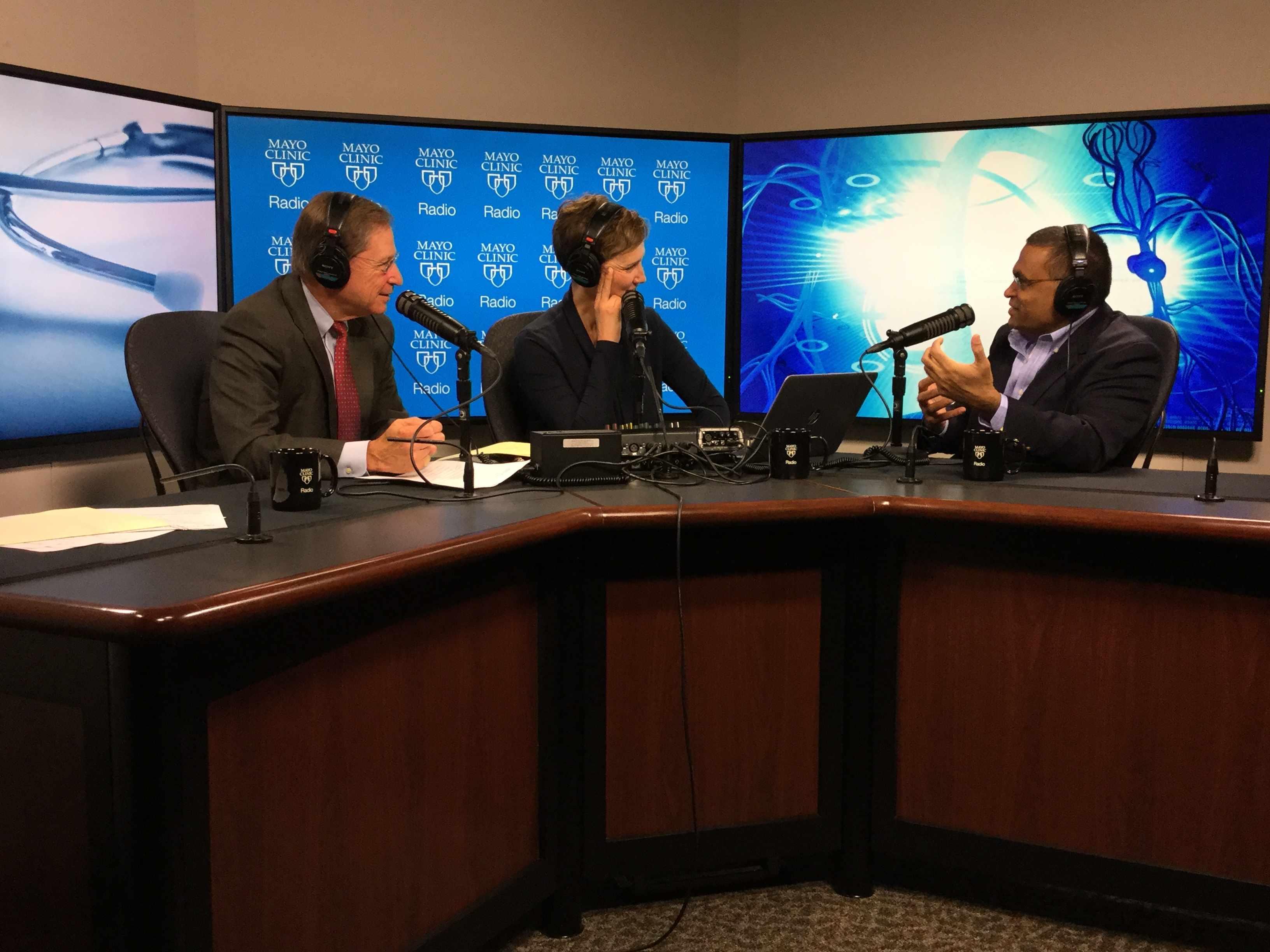 Dr. Matthew Kumar being interviewed on Mayo Clinic Radio