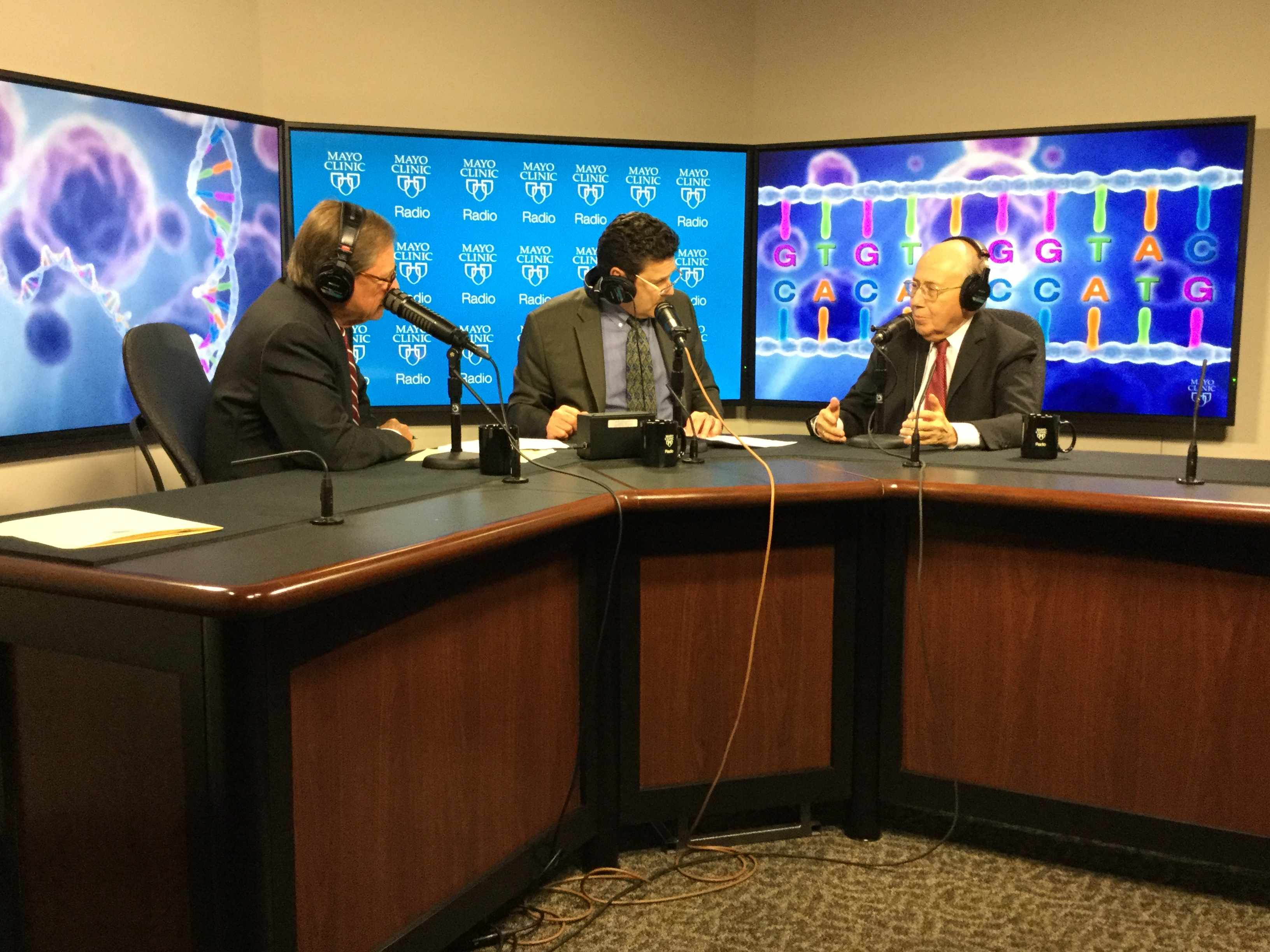 Dr. Richard Weinshilboum being interviewed on Mayo Clinic Radio
