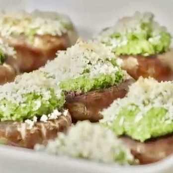basil pesto mushrooms