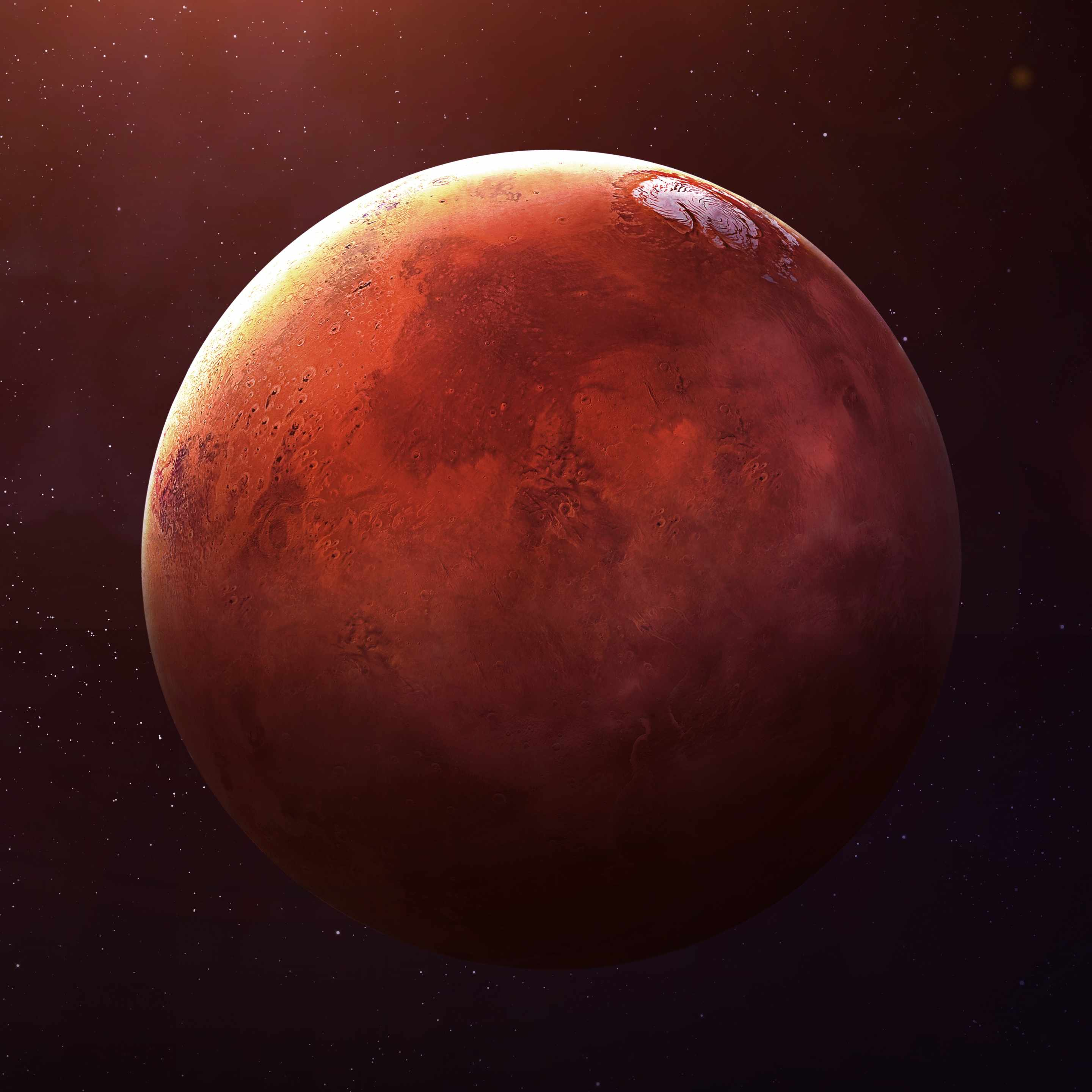 picture of planet Mars, red planet