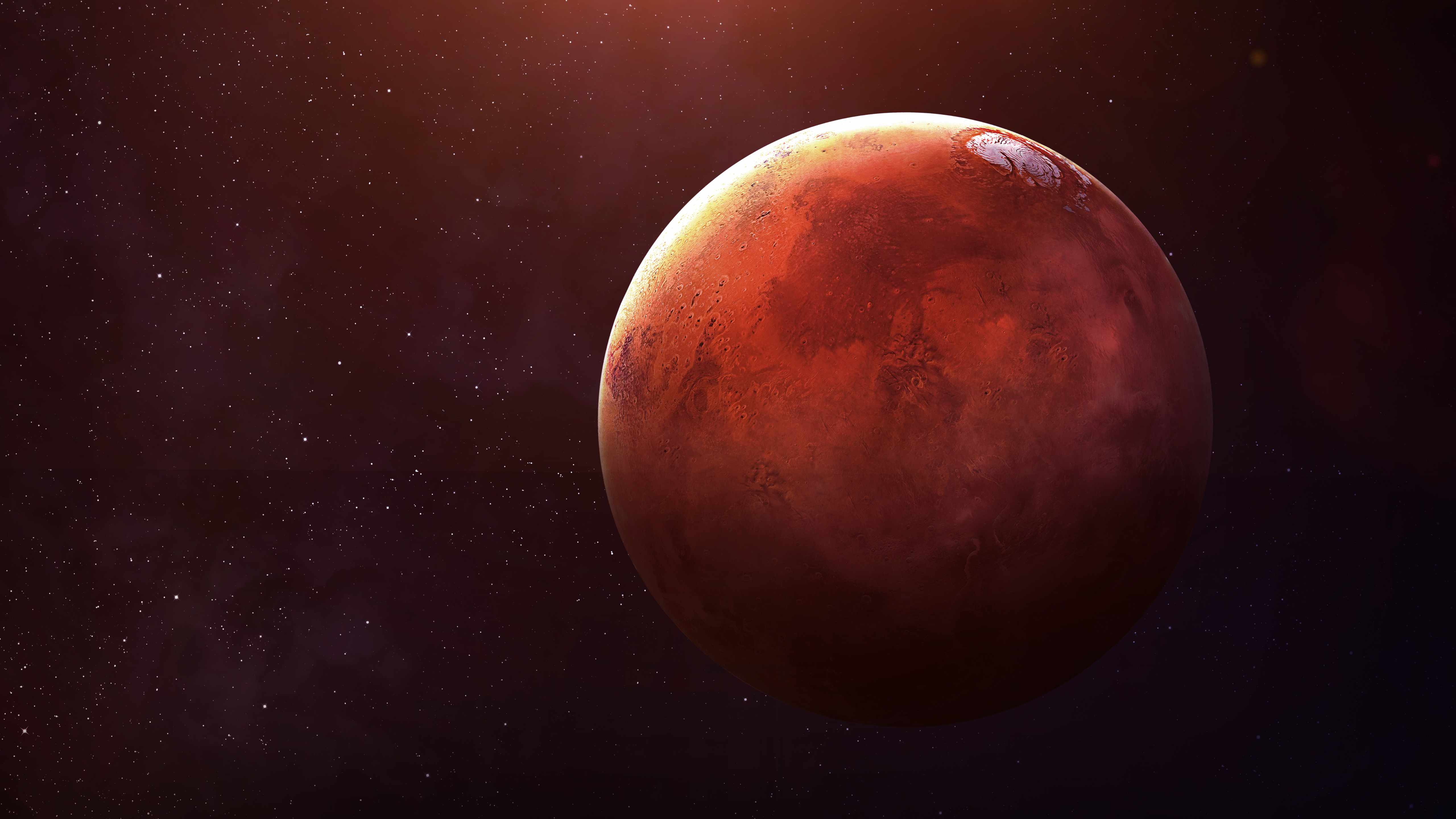 image of planet Mars, red planet
