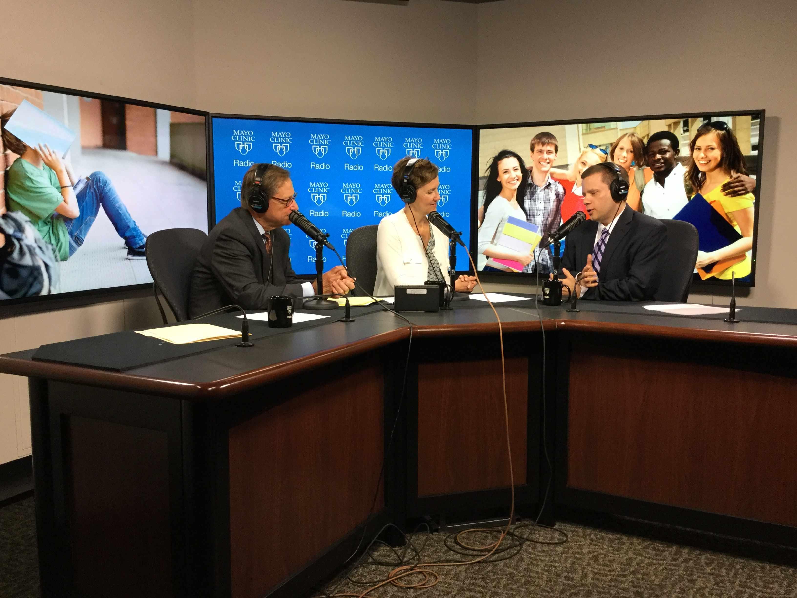 Dr. Paul Croarkin being interviewed on Mayo Clinic Radio